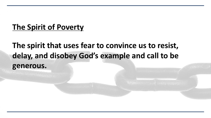 Breaking Chains: The Spirit of Poverty Part 2 — Church For Life