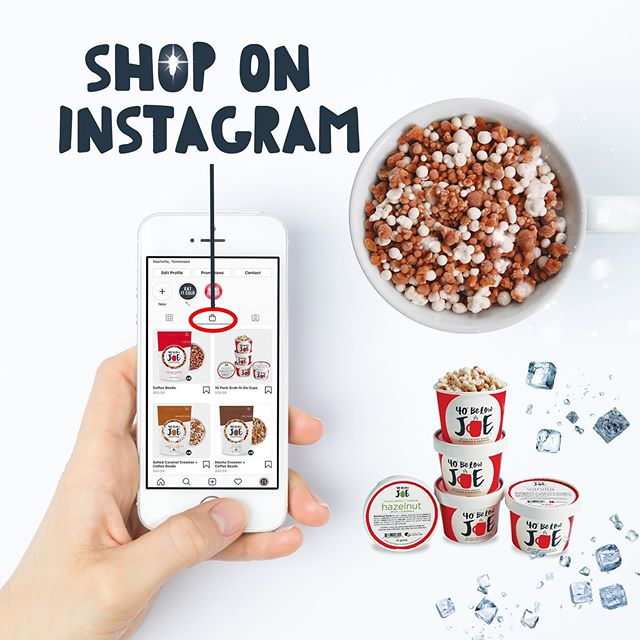 """You can now shop all of our products directly through Instagram! Just click on the """"shop"""" icon to view all of our coffee blends 📦"""