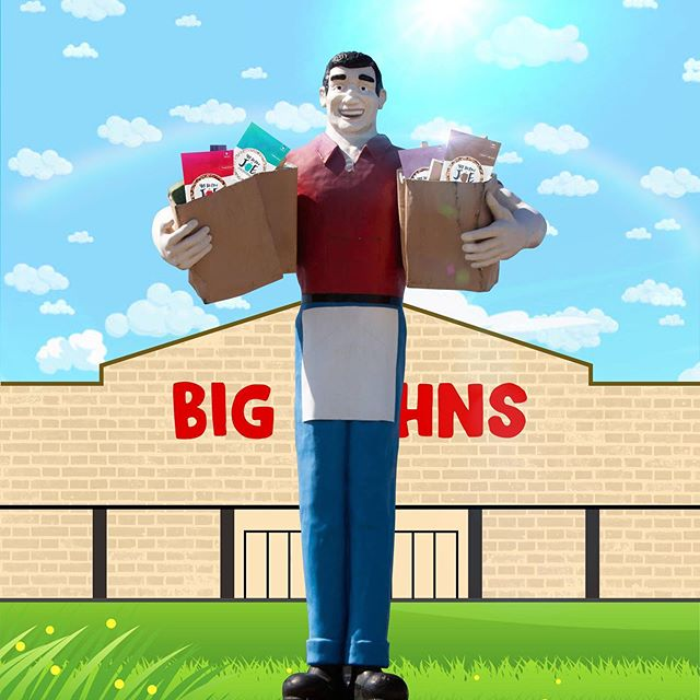 Metroplis, IL is not only the home of superman... It's also the home of Big John, and as you can see he's a fan of @40belowjoe 👍🏼 Big Johns now sells single serving cups and grocery bags so stop in next time you're around!