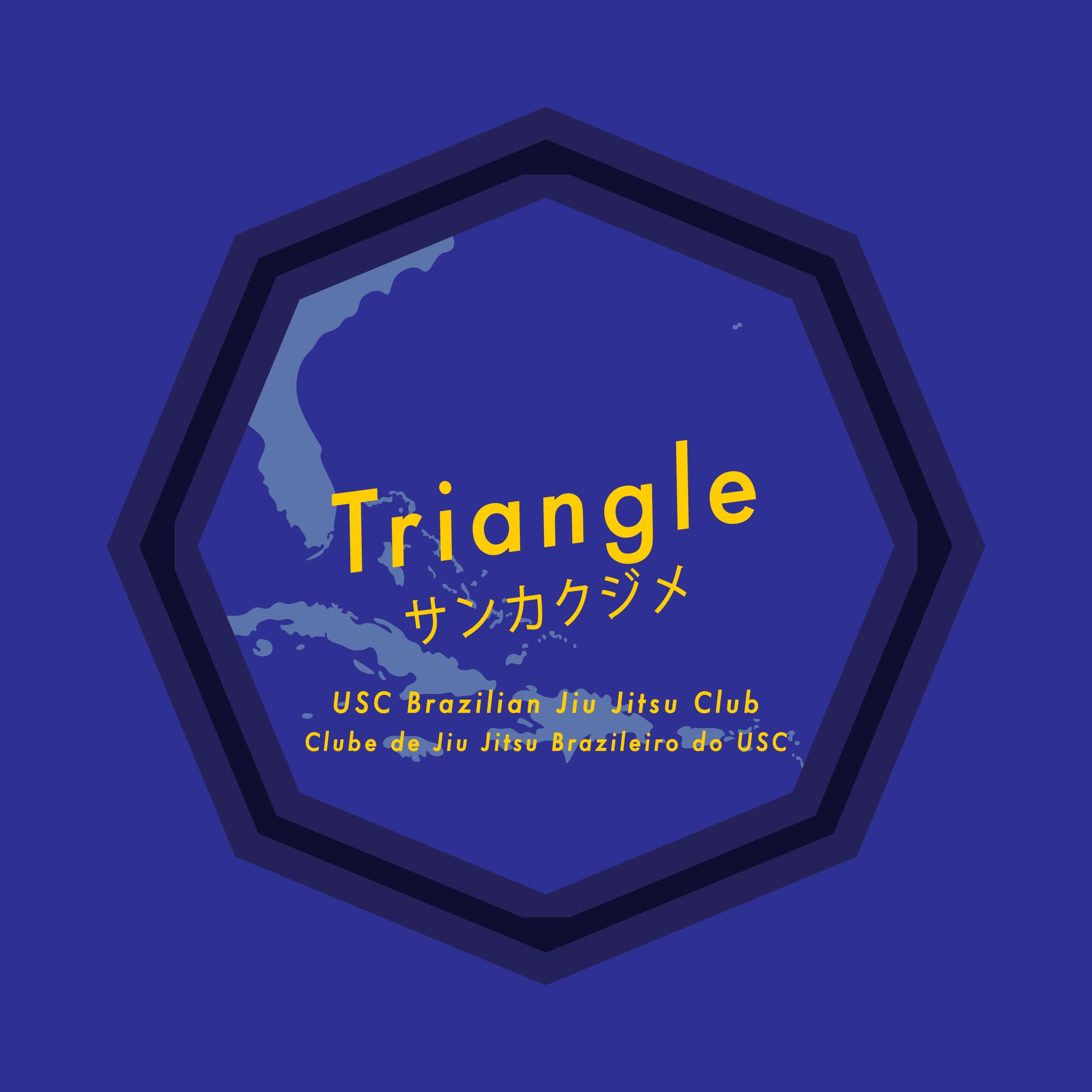 triangle   shirtback for usc brazilian jiu jitsu