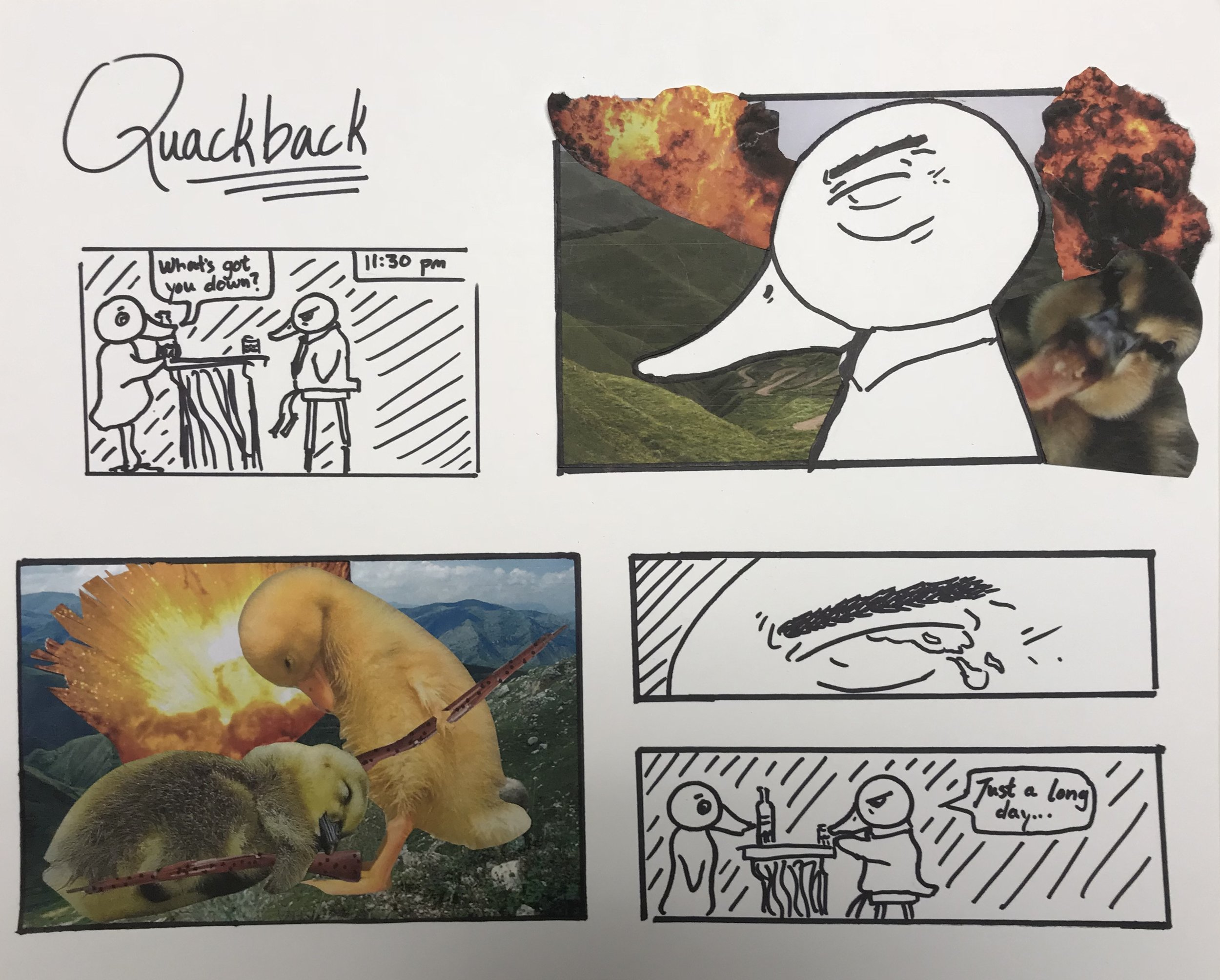 A quick comic we had to make in class