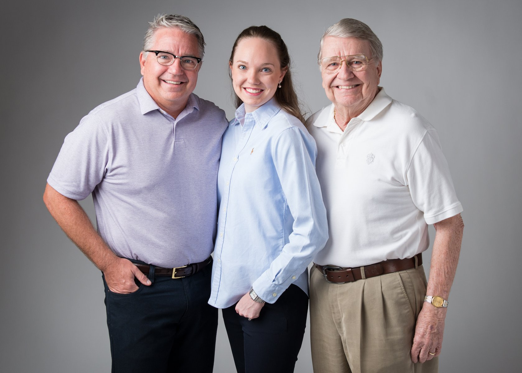 Three generations: Dr. Charles Stone, Dr. Brittany Keck-Flory, and Dr. Howard Stone