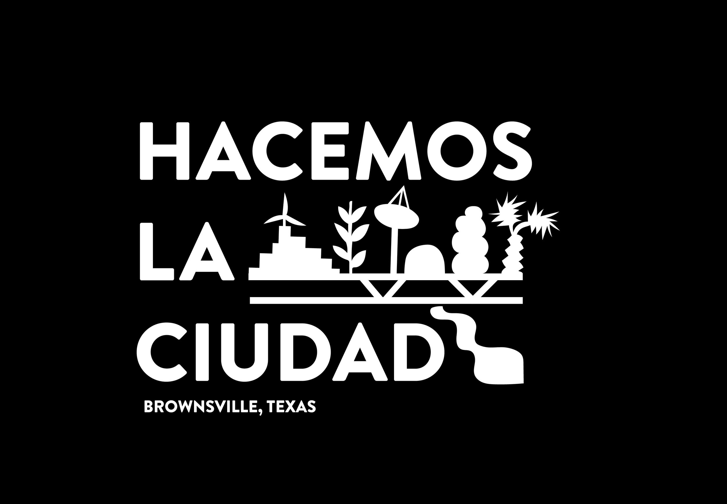 - Hacemos La Ciudad (We Make the City) in Brownsville, Texas; a comprehensive civic reimagining initiative in partnership with professors from University of Texas Rio Grande Valley Center for Mexican American Studies. A yearlong schedule of movement workshops, performances, art installations, and charrettes will consider the mind, heart, hands, and body of Brownsville. The aim of these events will be to examine and question how colonial ideology has informed the existing architecture and infrastructure of the city, and also to offer an opportunity for local residents to imagine a decolonized civic landscape and infrastructure. The project culminates in a Plan de Arte Cívica del Pueblo Entero (Civic Art Plan of the People).