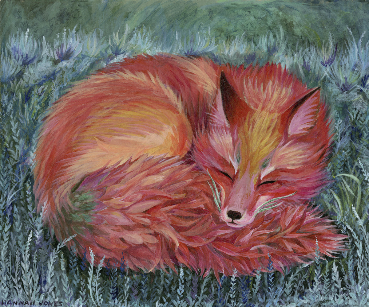 Paintbrush Fox - 10 X 12 inacrylic paint on chipboardprints available on request