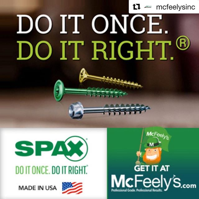 Get em while they're hot!! #Repost @mcfeelysinc ・・・ SPAX fasteners are high performance with German engineered thread technology. SPAX also has the largest selection of multi-purpose multi-material construction screws in the industry. Made in America! #SPAX #Woodworking #Construction #fasteners #Multimaterial