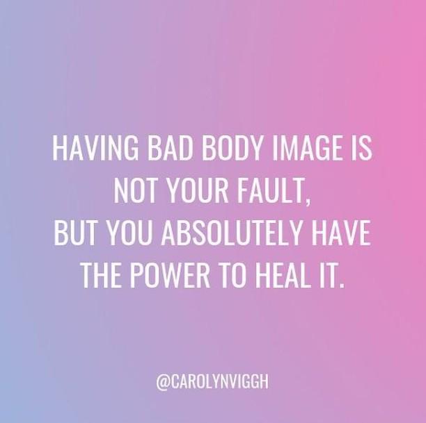 #bodyimage #bodyimageissues #badbodyimage #goodbodyimage #loveyourbody #ilovemybody #bodyimagewarrior #selflove #ilovemyself #bodyrespect #bodyacceptance #bearulebreaker #bodypositive #bodypositivity #bodypositivememes #bodypositivequotes 📸 @carolynviggh