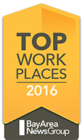 2016 Top Workplace in the Bay Area by The Bay Area News Group