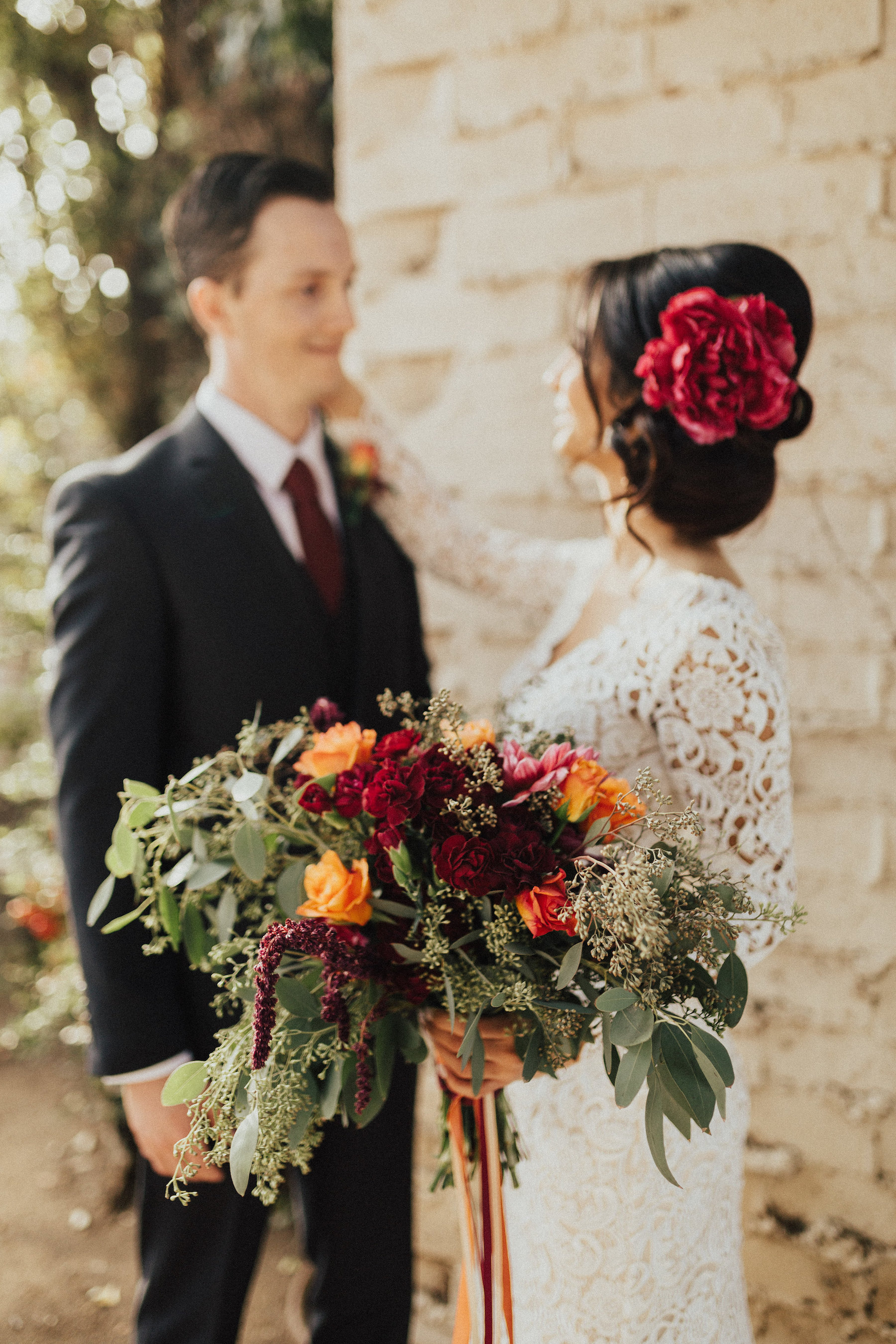 Venue- The Edward Dean Museum, Cherry Valley, CA; Photographer- Ed Paulella; Catering- K & A Catering; Florals- Cherie Riley Weddings; Hair & Makeup- Kelly Scripps