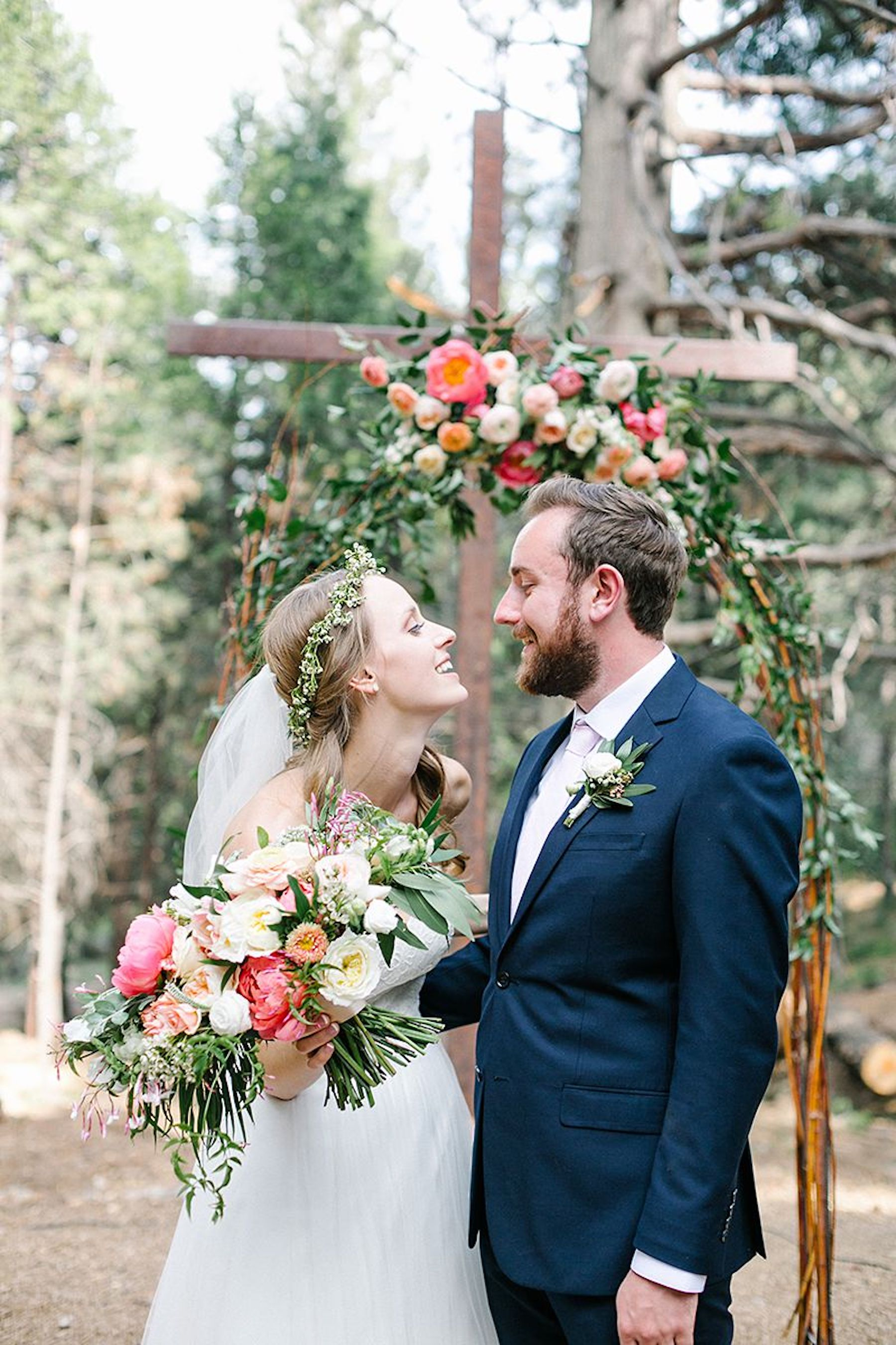 Venue- Thousand Pines, Crestline Ca; Photographer- Like Morning Sun; Florals- Bloomwell and Company; Caterer- Lucilles BBQ