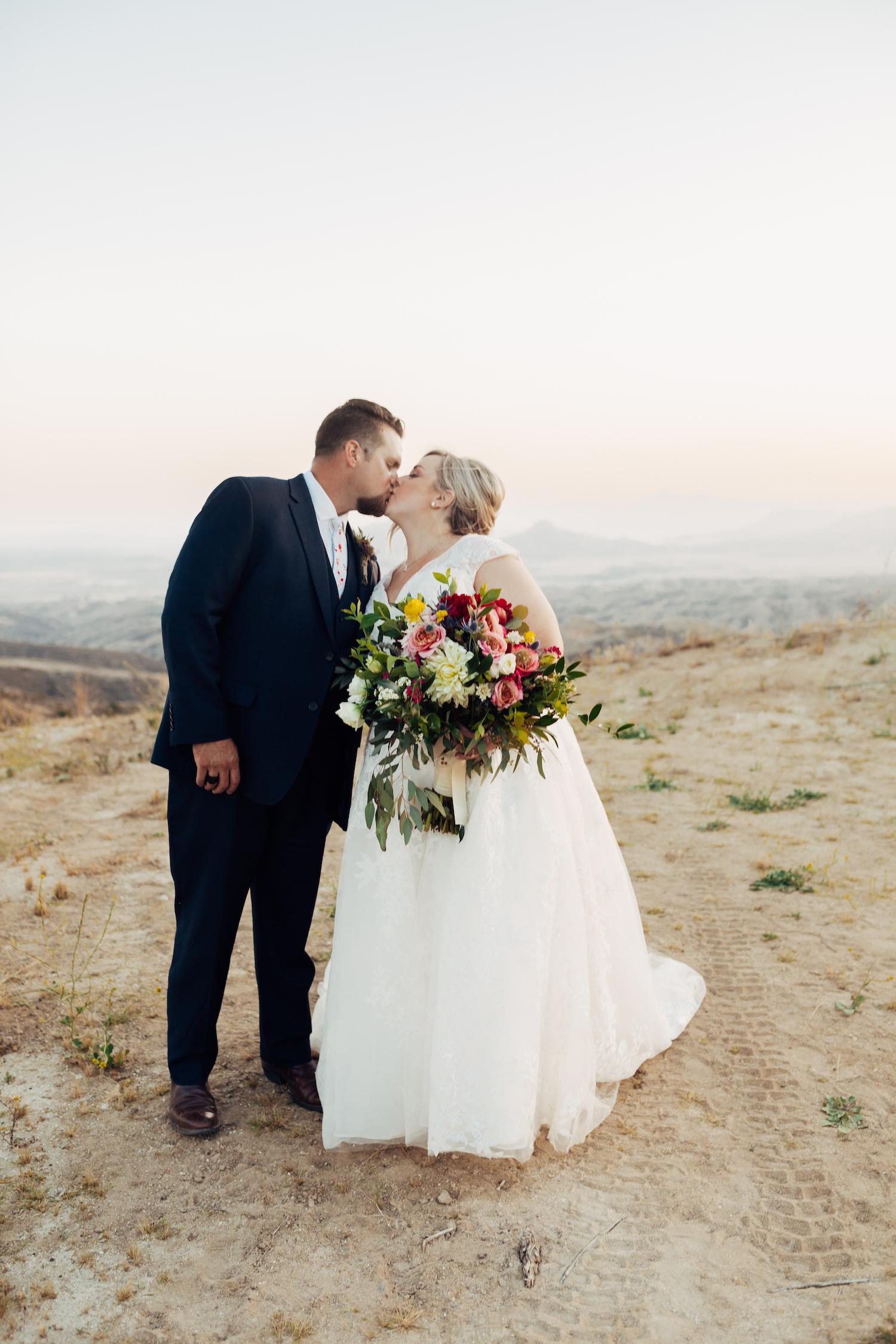 Catie & Andrew Sunset Kiss Bouquet .jpg