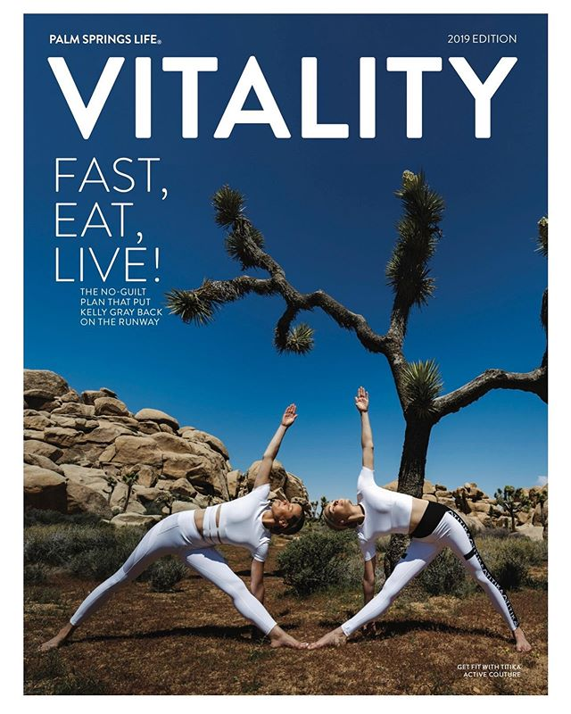 💙🌞💛 Loved putting this cover story together for the Vitality edition of  @palmspringslifemagazine! I love #yoga as much as I love #fashion and to shoot it with old friends in #joshuatree... Wow! what a beautiful day at work! Thanks @david_hou_photography for doing such a beautiful job and @ericablitz and @silkymariesky for your yoga skills- balancing on cacti and rocks in crazy asanas! Thanks @cactusandfog for your magical production skills and @annakula for putting this on the cover! Beauty by @chelseawildflower fashion editing by @amylustyle.  #yoga #fashioneditor #amylustyle #beautiful #nature #palmspringslifemagazine