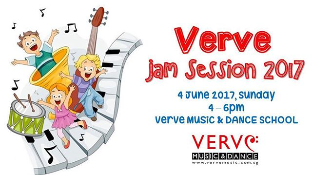 To all friends of Verve! We would like to invite you to our jamming session on 4th June 2017 (Sun) from 4pm to 6pm at Verve Music & Dance School. Students/Parents/Friends are welcomed to join us in the fun-filled event. We look forward to seeing you! #vervemusic #kids #jam #music