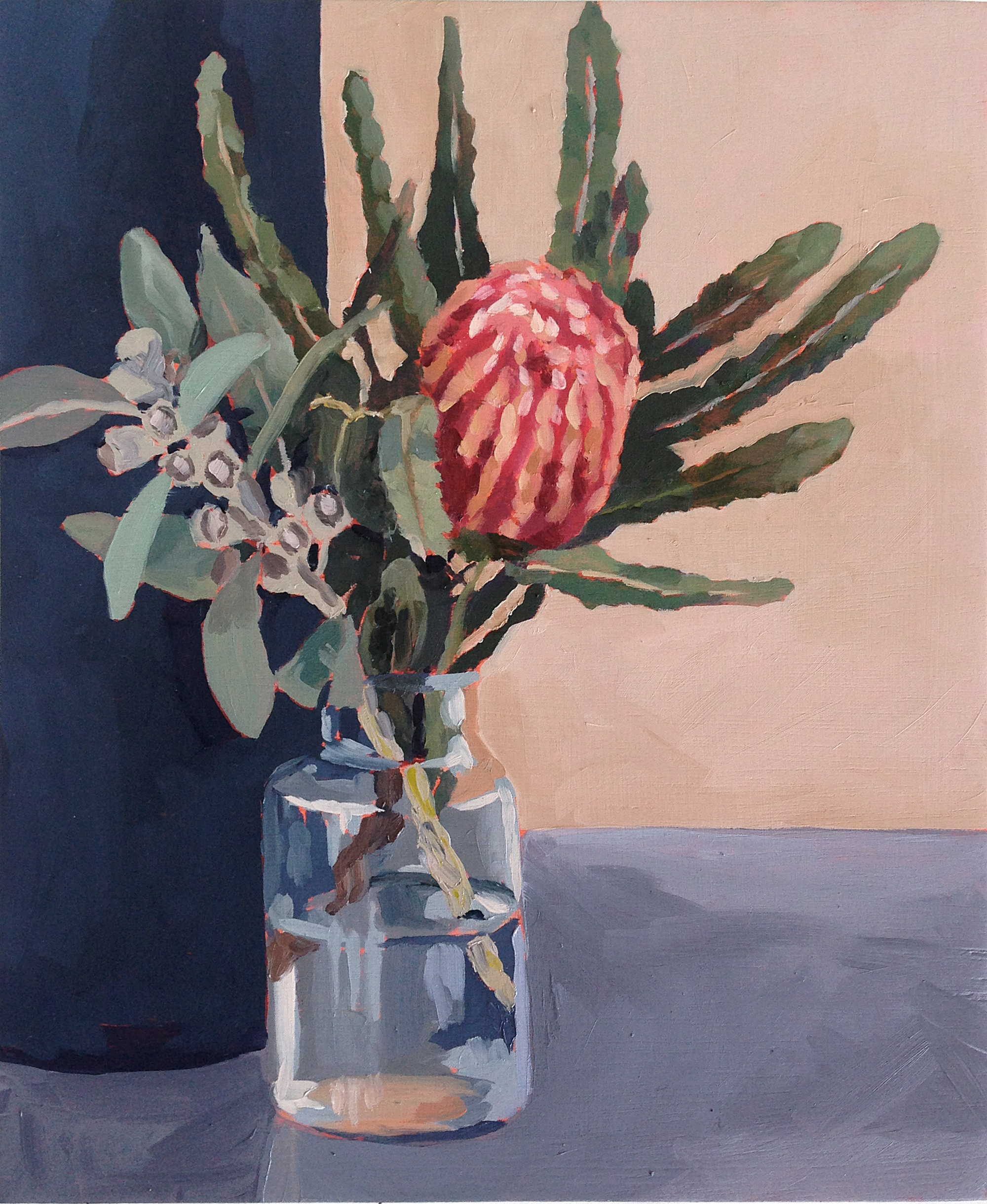 Banksia oil painting by Emma Fuss