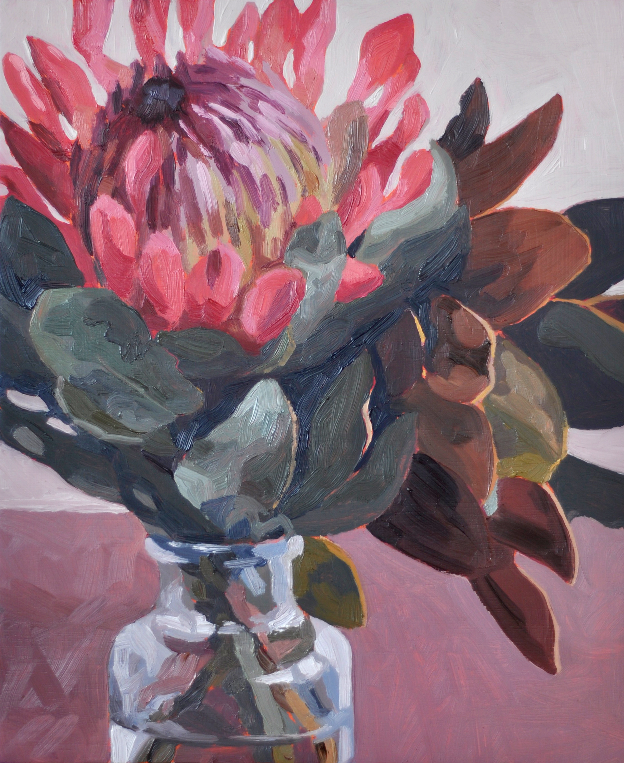 Protea oil painting by Emma Fuss