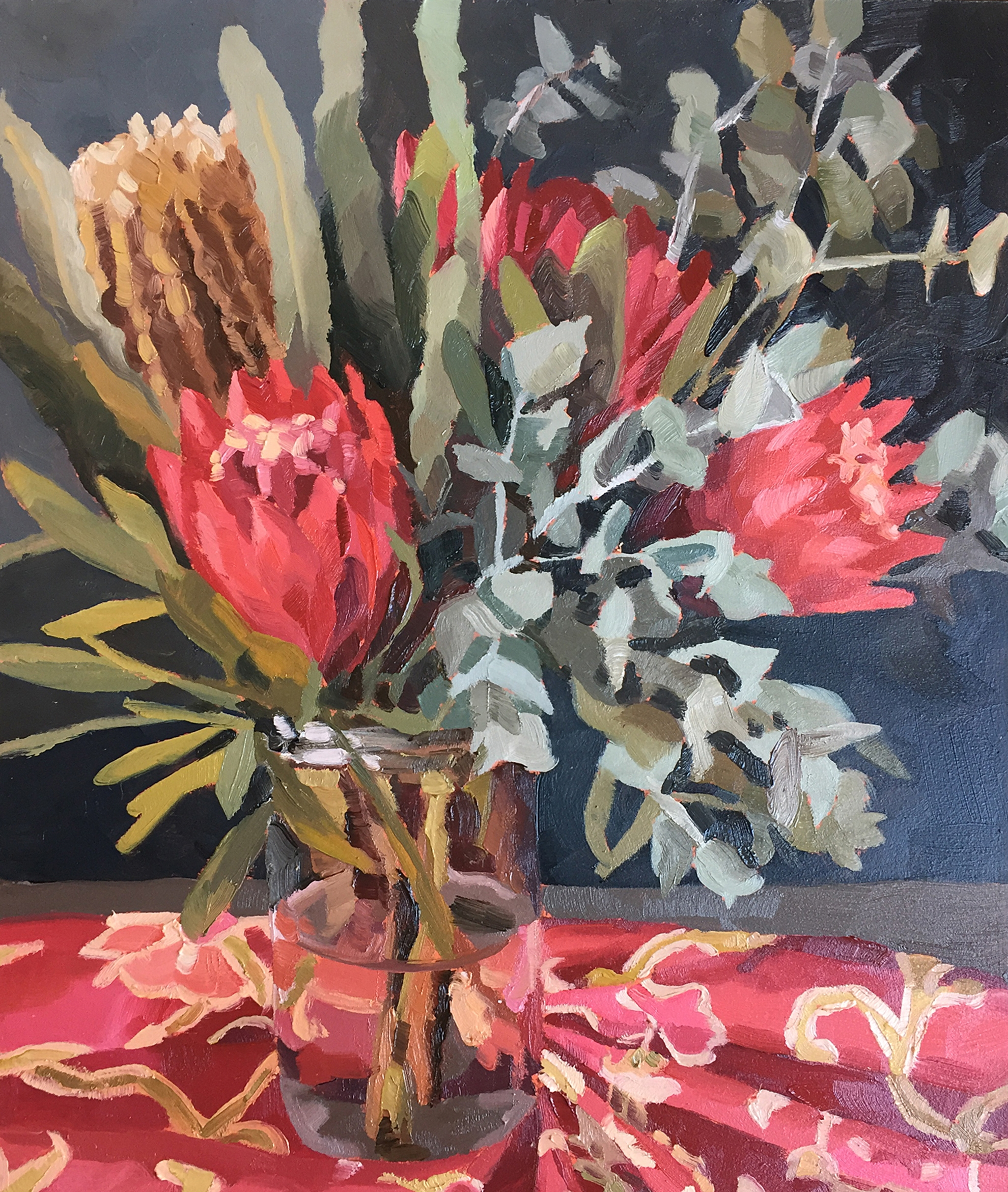 Native flowers oil painting by Emma Fuss