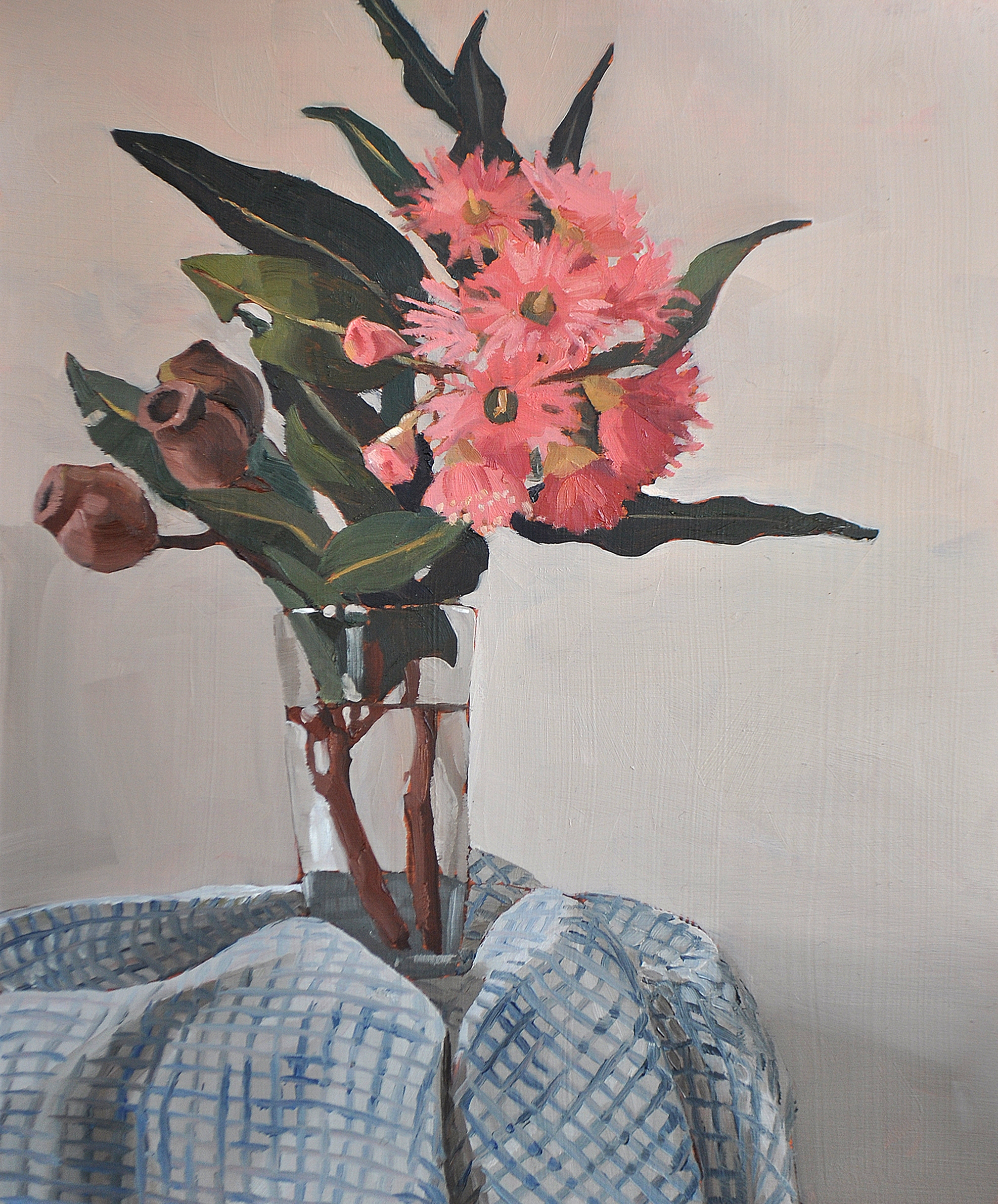 Ficifolia oil painting by Emma Fuss