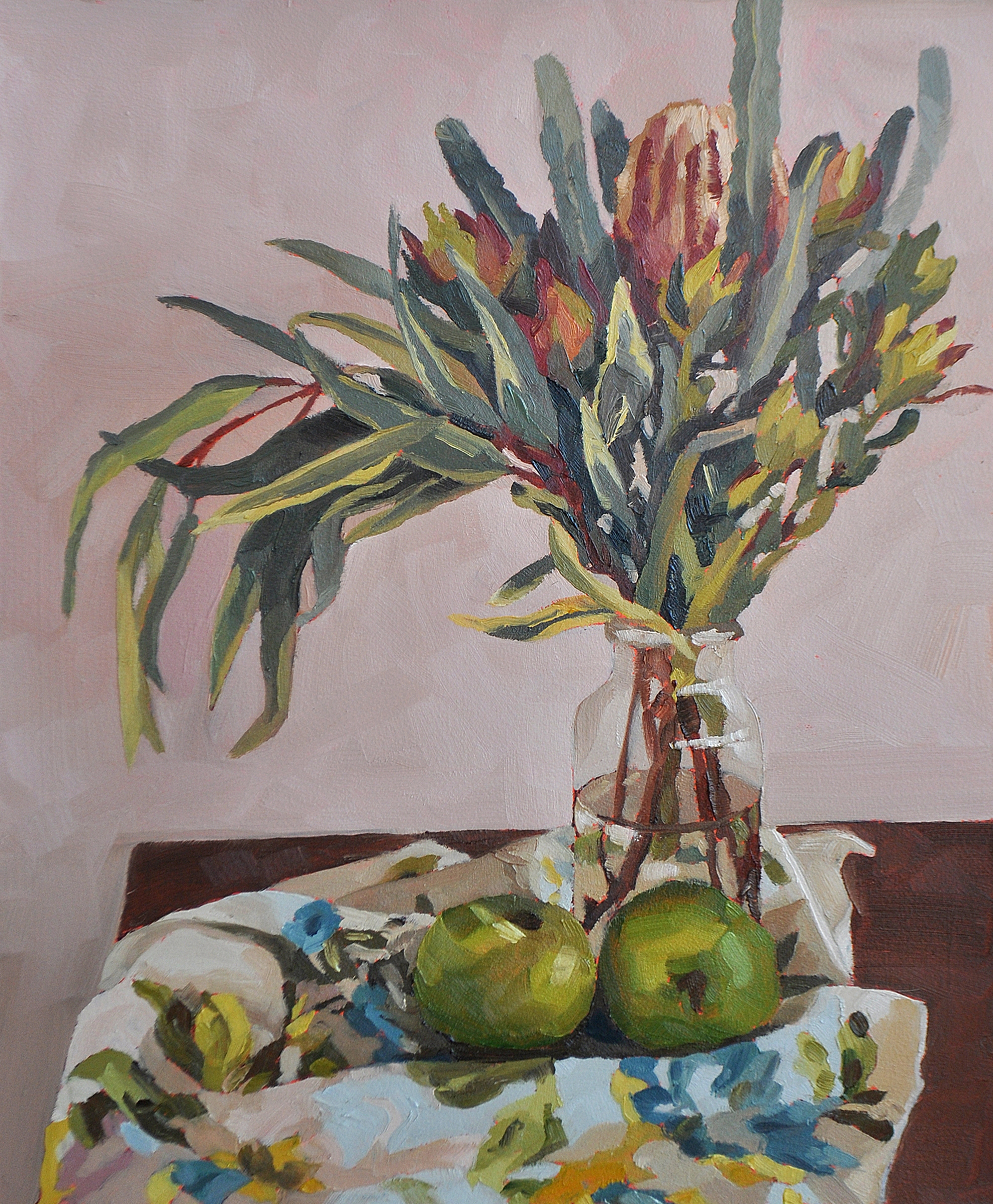 'Bec's Granny Smiths' oil painting by Emma Fuss