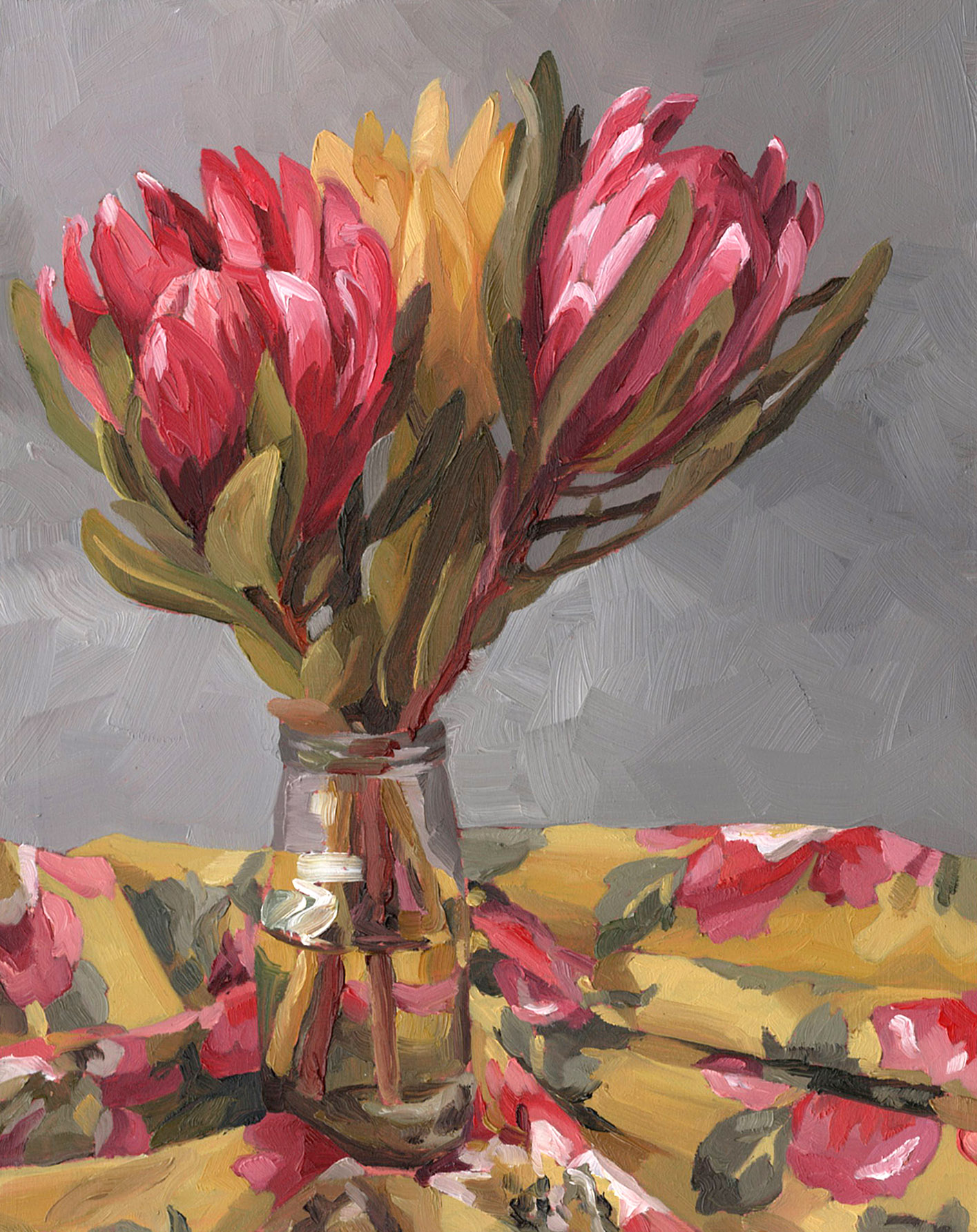 Leucadendron oil painting by Emma Fuss