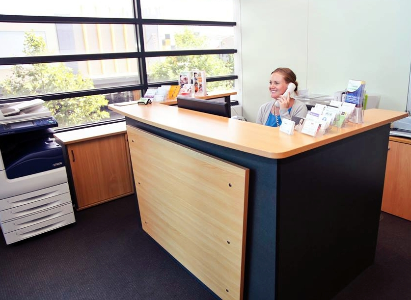 Reception Service - A professional receptionist will answer your calls under your business name and greet your clients upon their arrival. You will receive a prestigious corporate address. The mail is collected daily and delivered to your office.