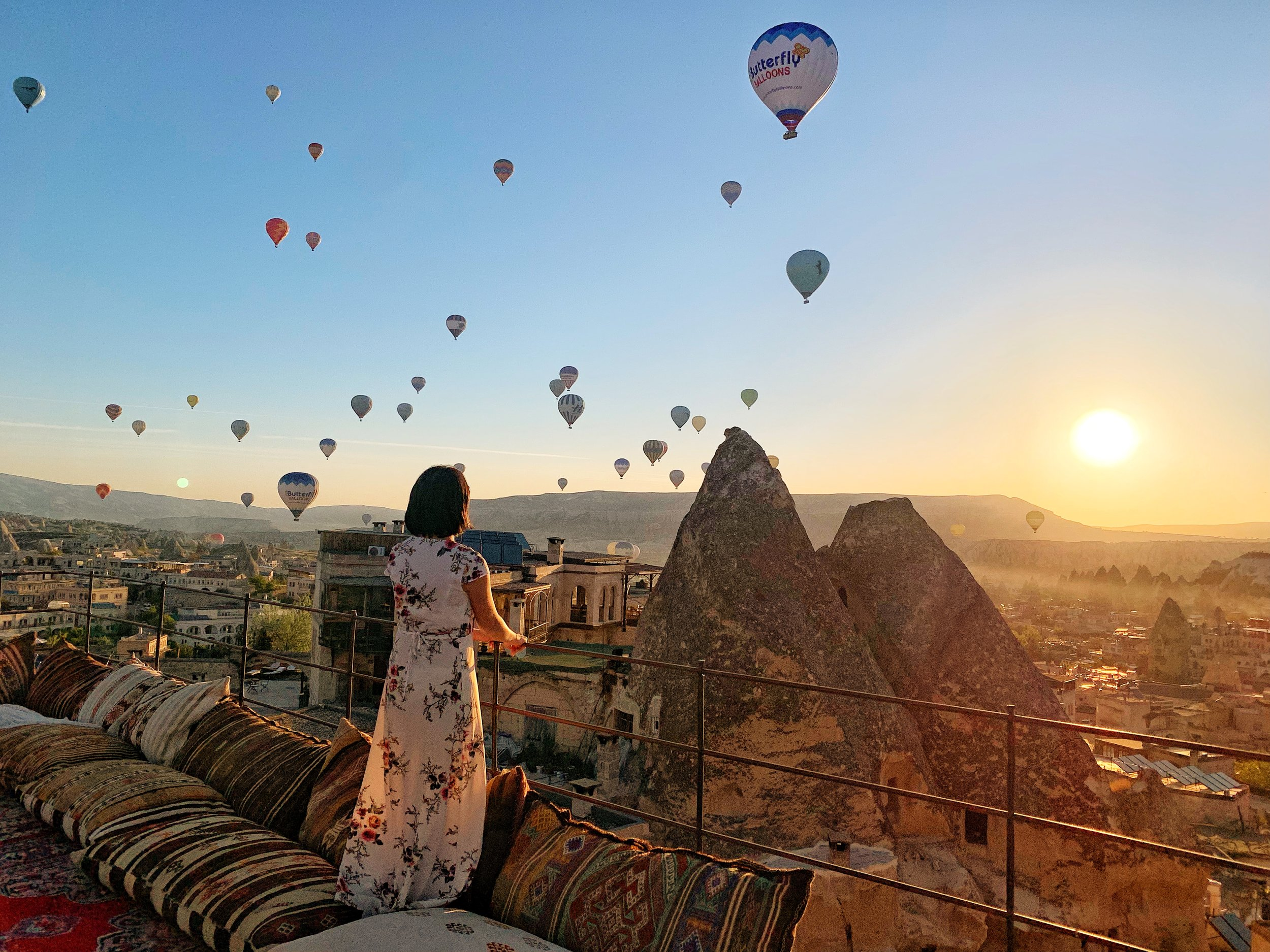 Angela Lim during sunrise in Turkey