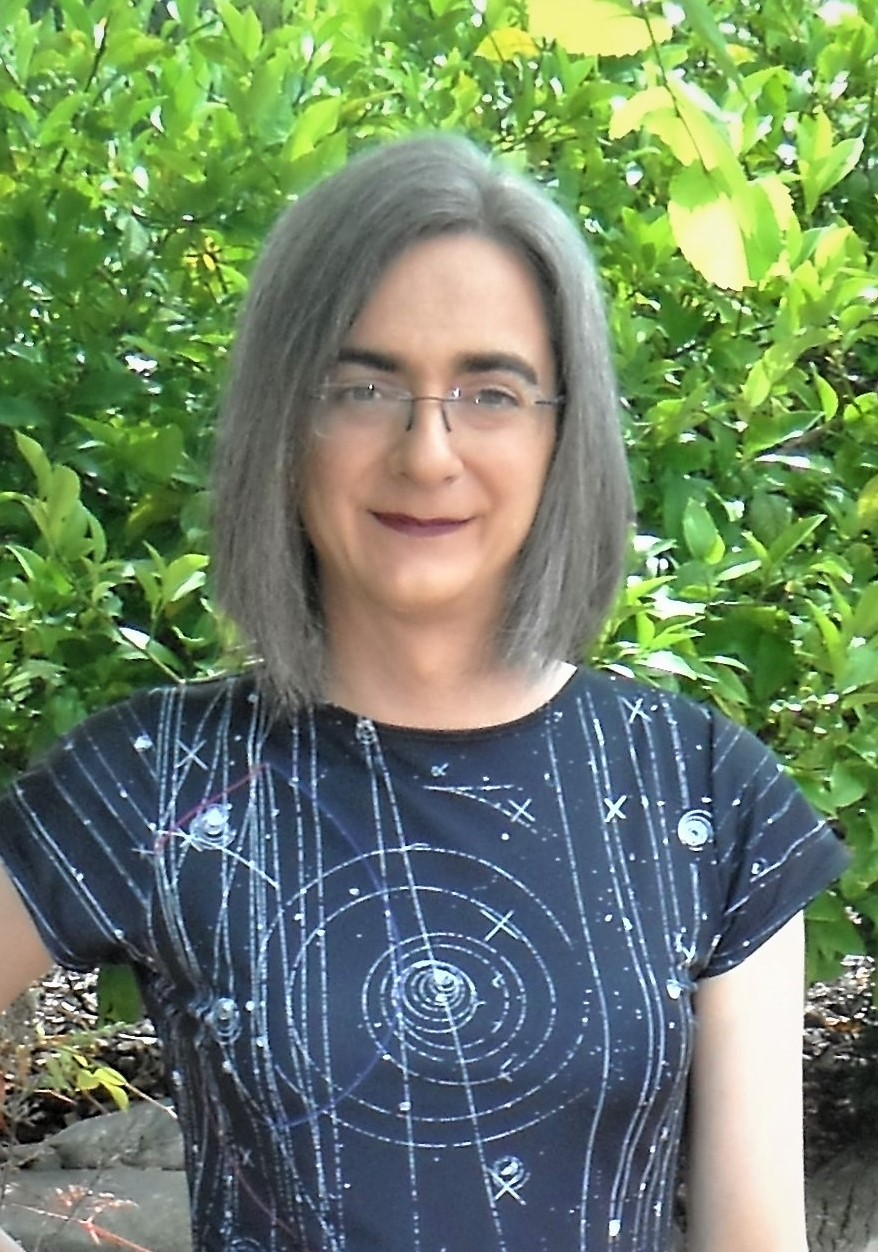 JJ Eldridge in the Shenova Fashions Particle Physics Dress