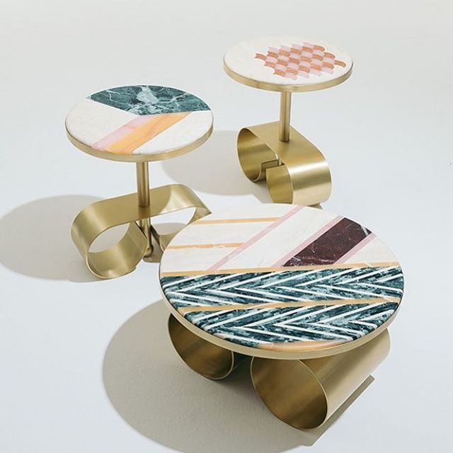 Has anyone seen my earrings?  Aren't these tables great?  Cristina Celestino #design #interiordesign #interiordesigner #cooldesign #tables #furniture #furnituredesign #earings #brass #marble #hamptonsdesignco  @cristinacelestino @fendi @jackiejacqs