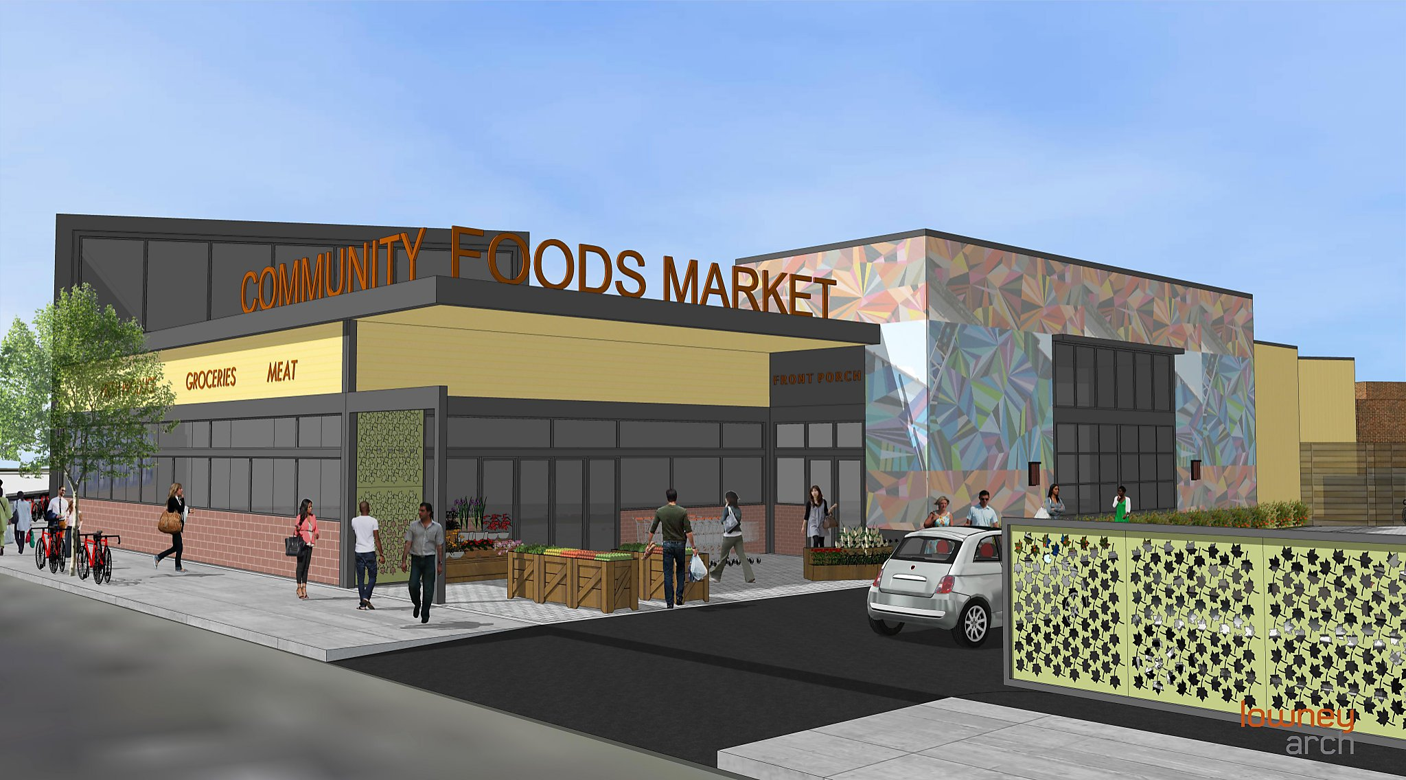 By December 2018, San Pablo Avenue in West Oakland will have its first full service grocery store in more than a decade. Not just a grocery store, Community Foods will provide local jobs , healthy foods, and cafe space to host community gatherings.