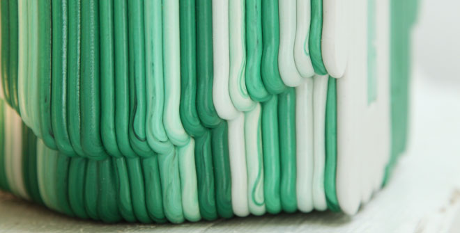 Image source: Julia Kubisty. Dirk Vander Kooij designed a collection of 3D printed chairs made out of recycled refrigerators.