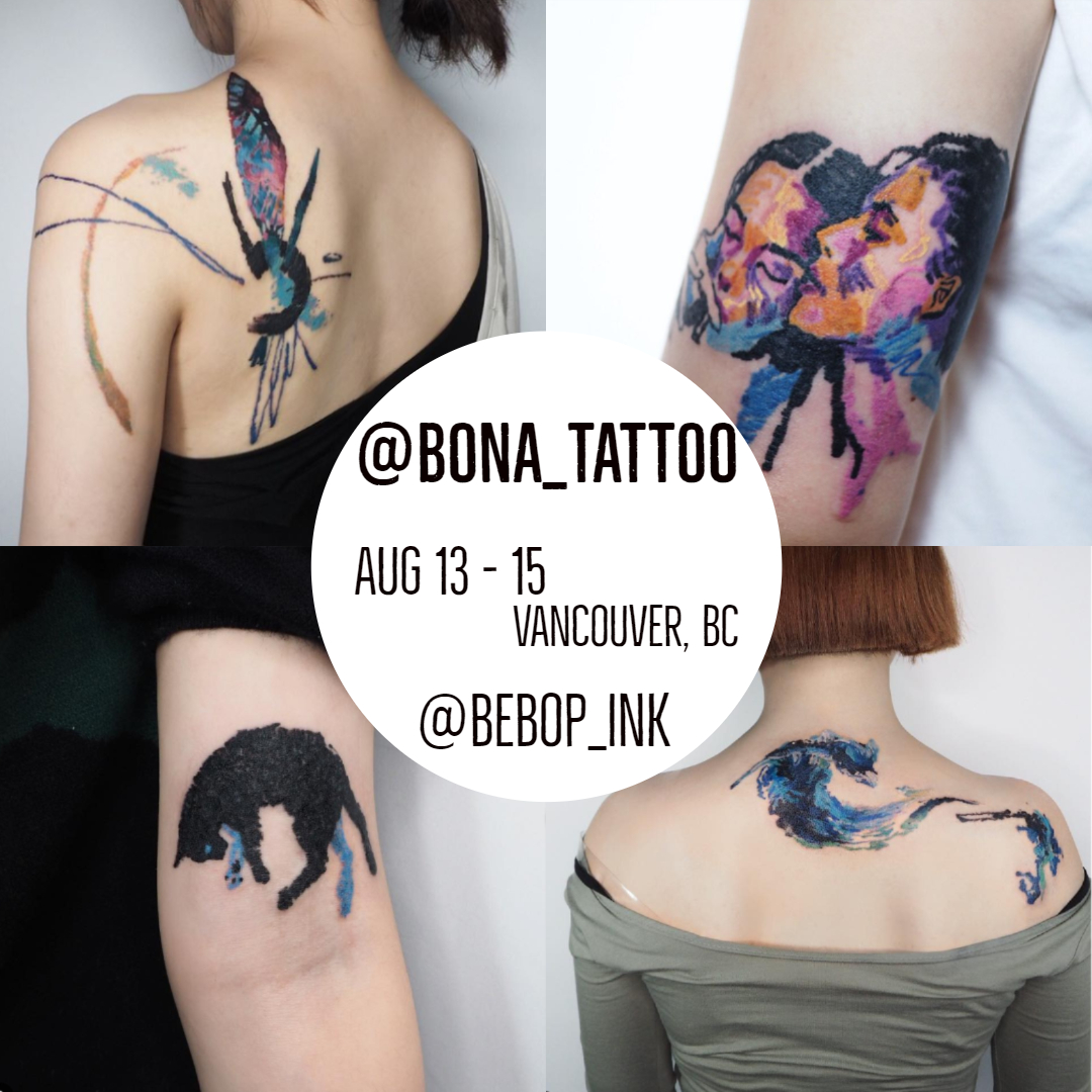 AUG 13-15 2019—————————@bona_tattoo—————————email: bonatattoo118@gmail.com—————————www.instagram.com/bona_tattoo/ -