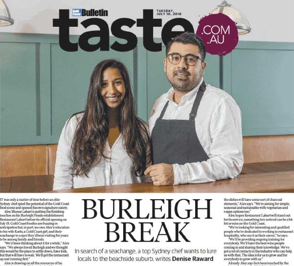 Gold Coast Bulletin - Taste cover