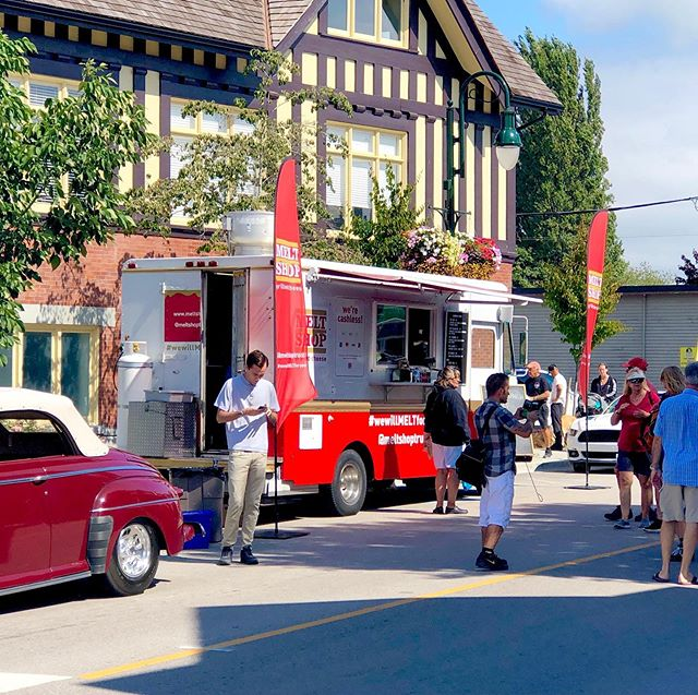 Come visit @meltshoptruck today at the Ladner Quilt and Classic Car Show!  We'll be serving until 4pm!  What's better than cool cars and tasty MELTs and TOTs? . . . . . . . #wewillmeltforyou #grilledcheese #ladner #foodtruck #sunday