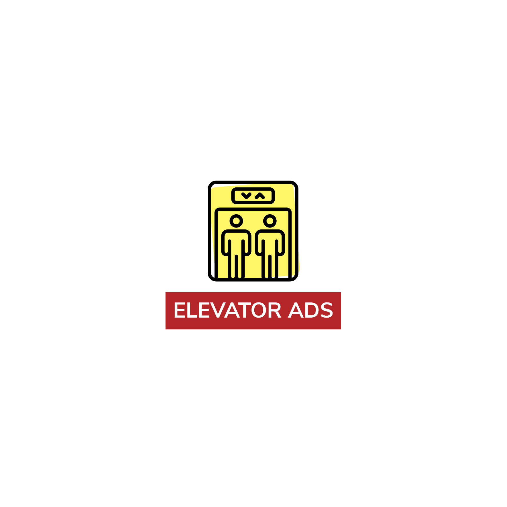 elevator advertisements - png