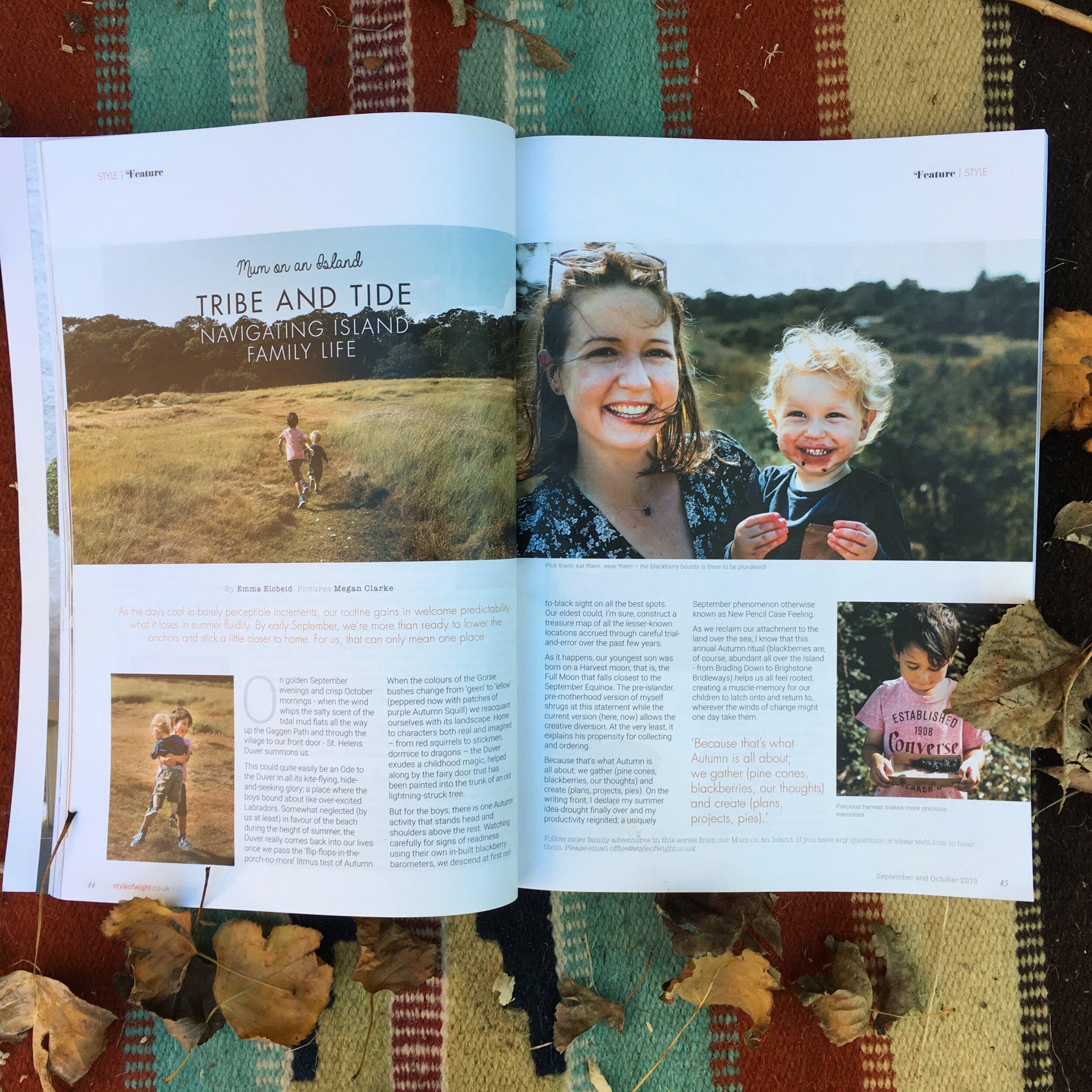 column: tribe & tide //  Style of Wight Magazine e // September / October 2019