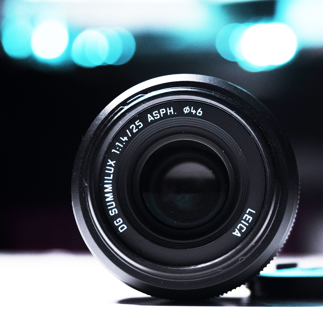 Lumix/Leica 25mm f1.4 - It's pricy for a prime, but it's so damn sexy.