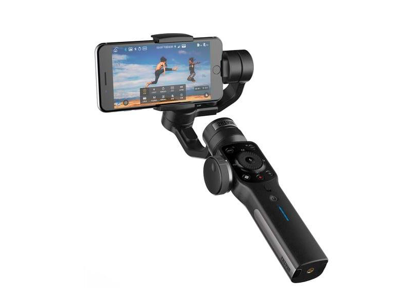 Zhiyun Smooth 4 - Super Gimbal. Especially now you can use Filmic Pro with it.