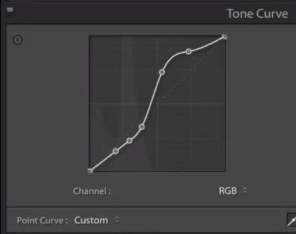 Roughly this shape of tone curve should pull out your stars.