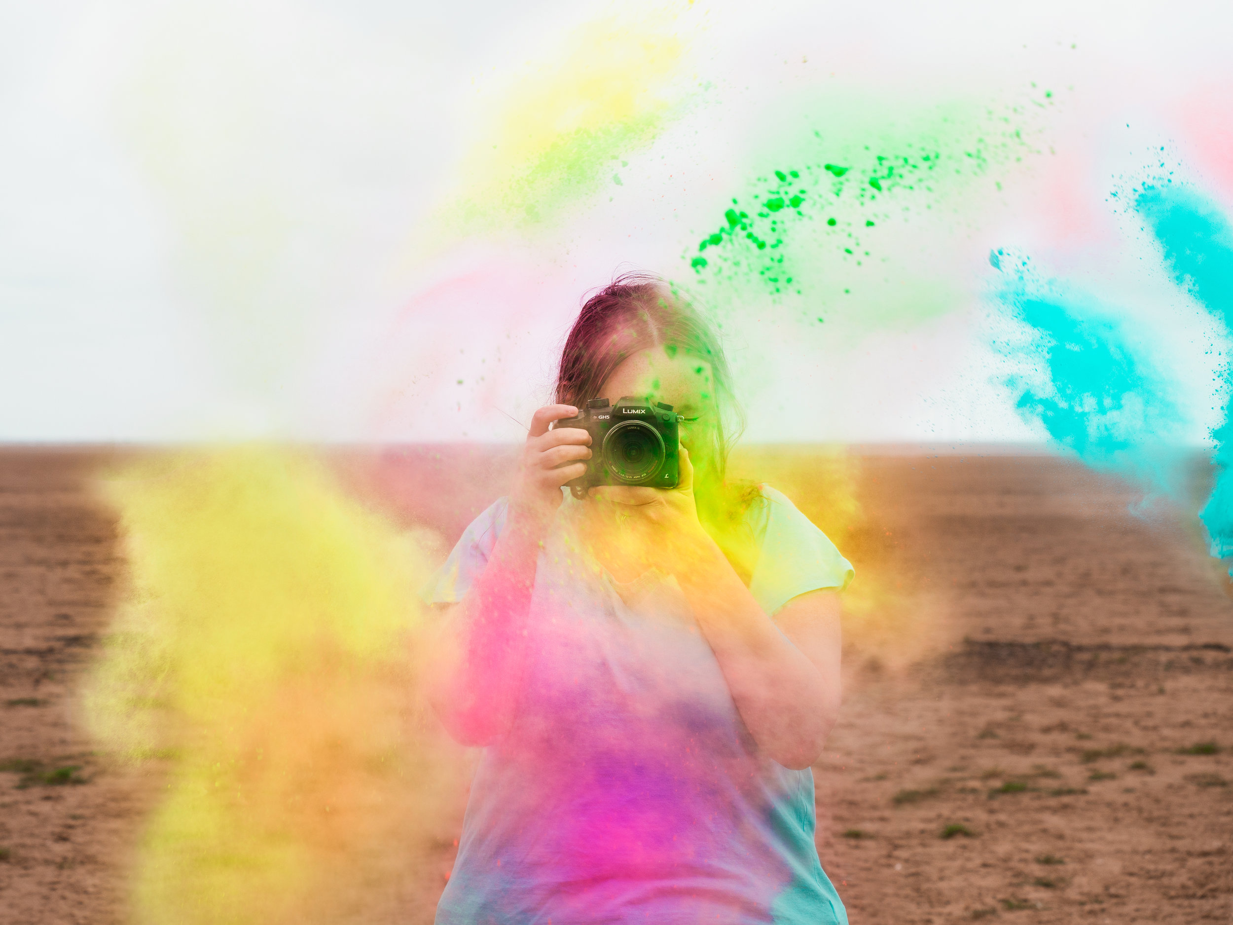 paint powder photography ideas