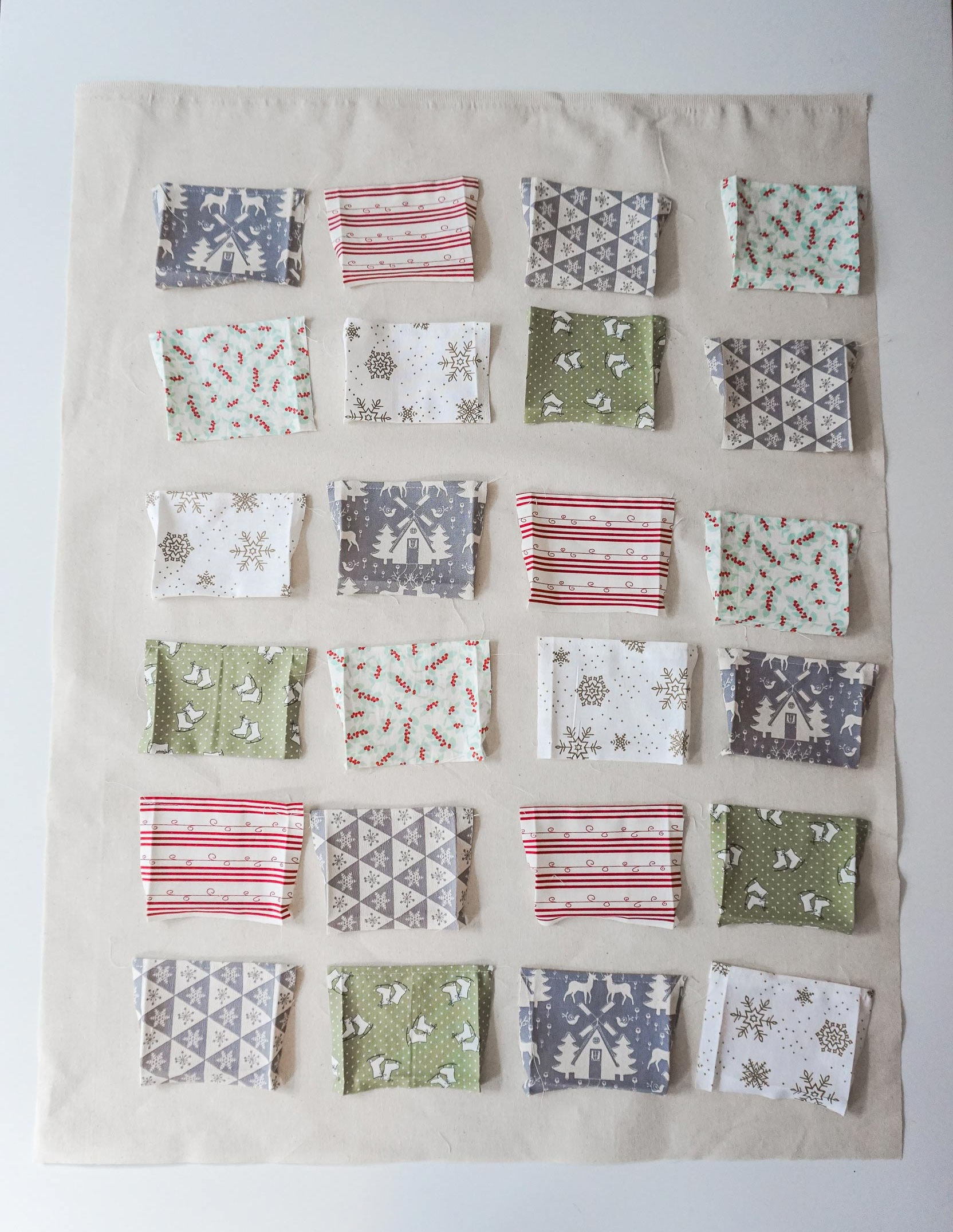 Diy Fabric Advent Calendar Tutorial Dot N Cross Sewing And Pattern Cutting Classes In Falmouth Cornwall