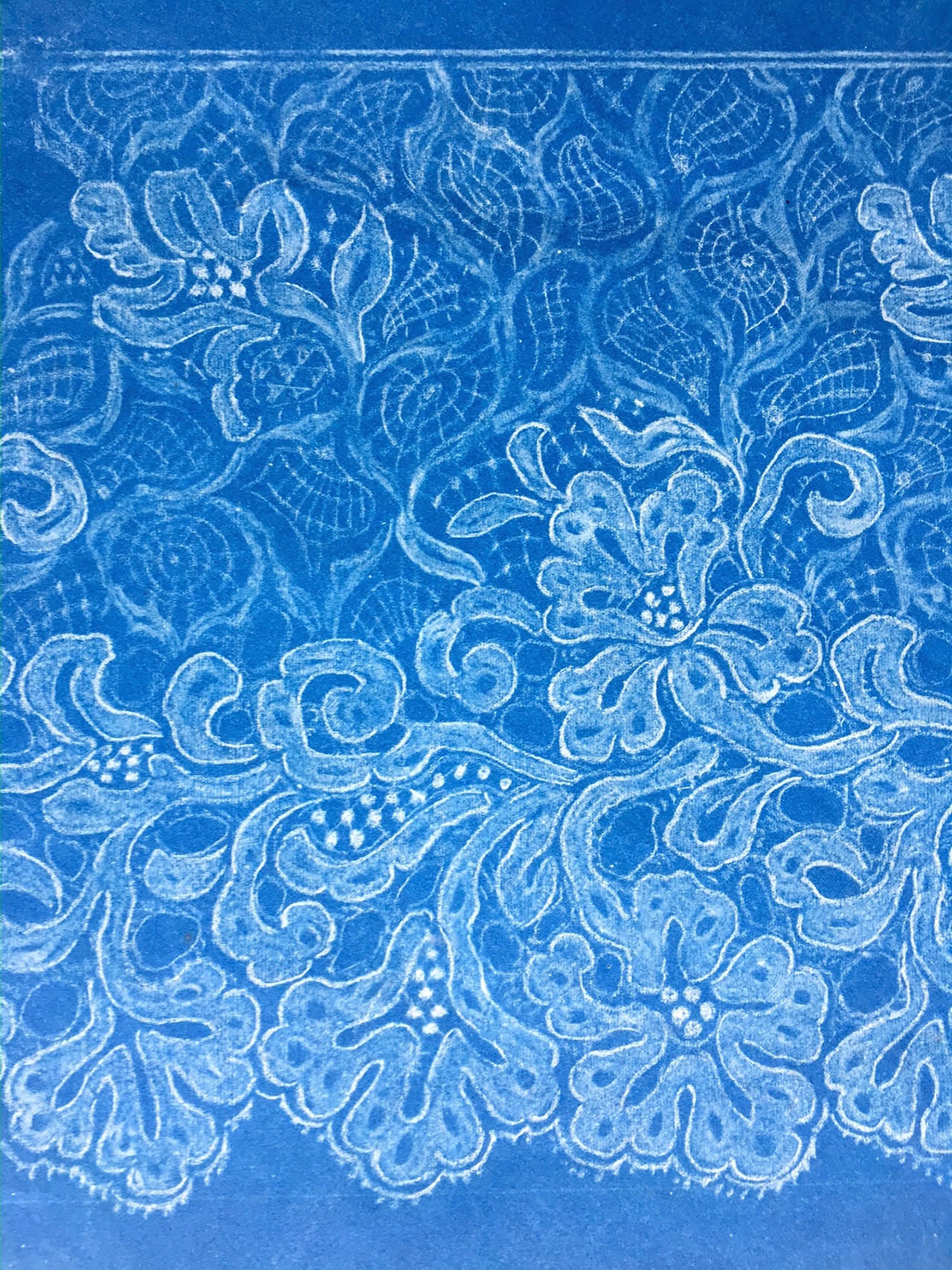 Antique Cyanotype of Lace