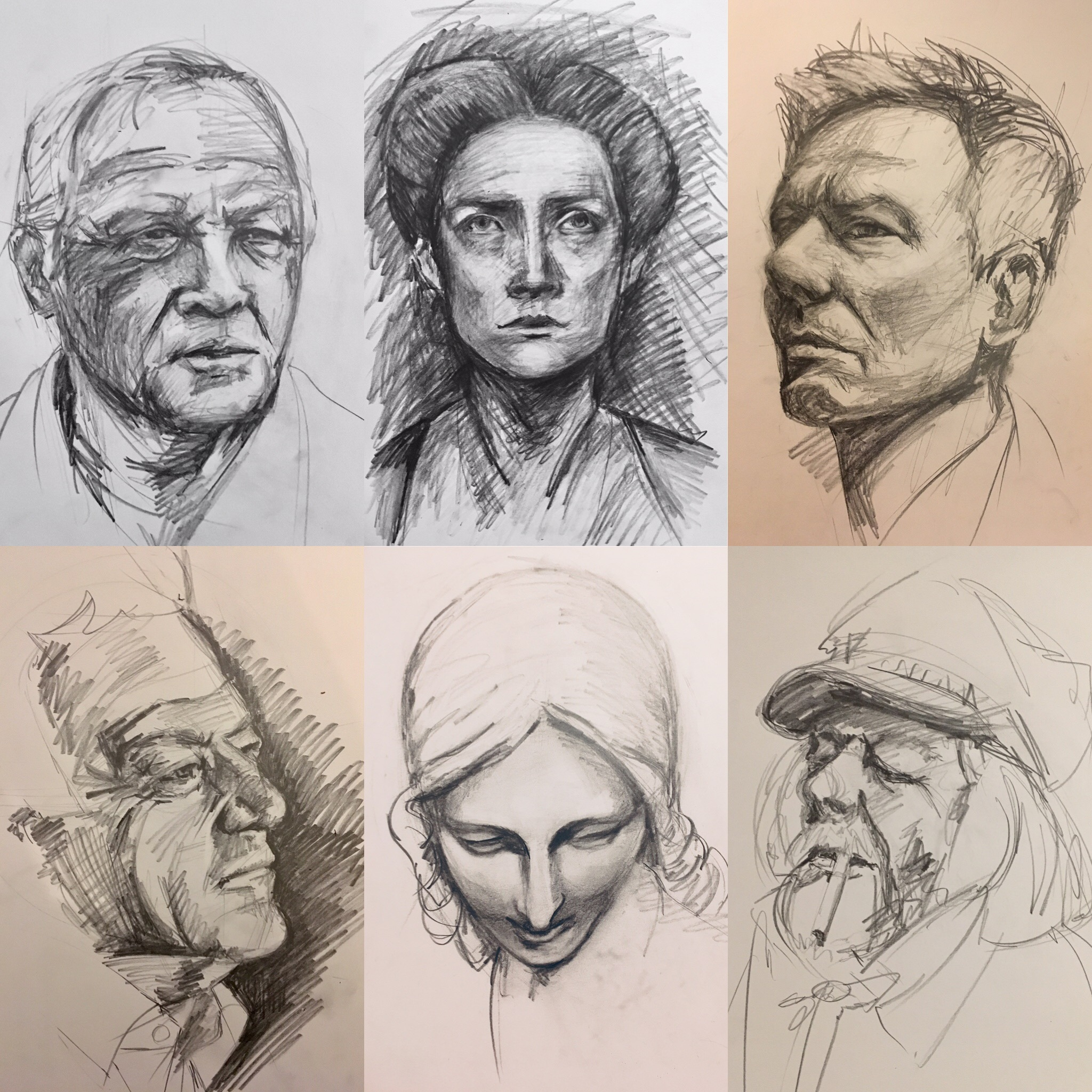 A selection of my sketches so far in 2019