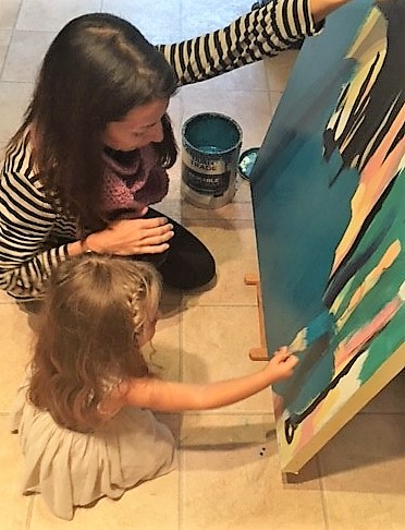 flo lee and peggy painting