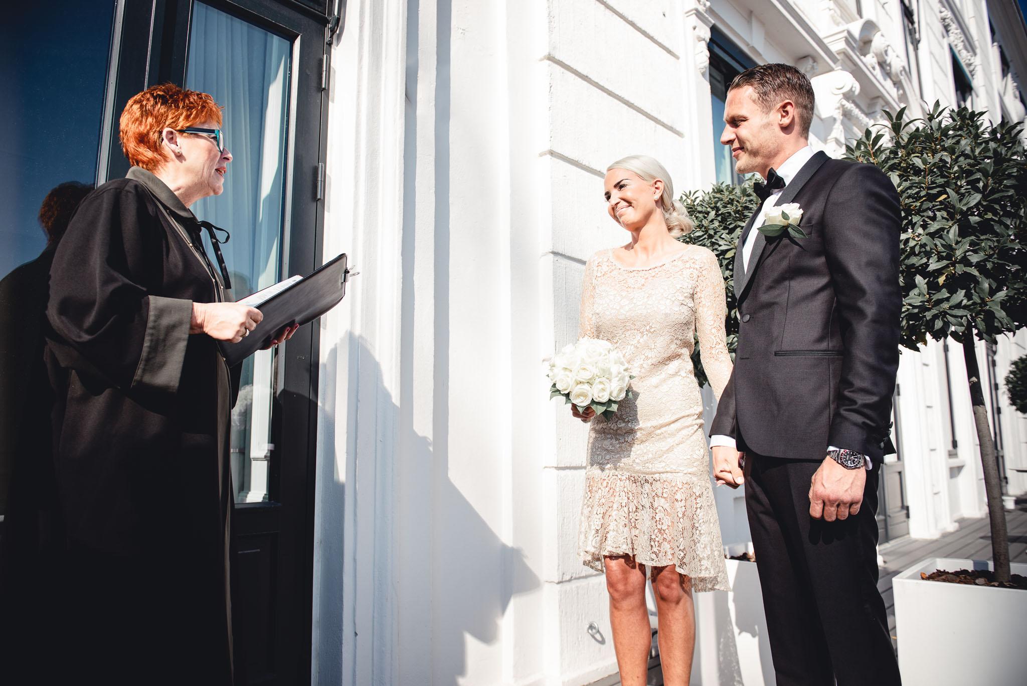 Bryllup på Hotel d'Angleterre i København -
