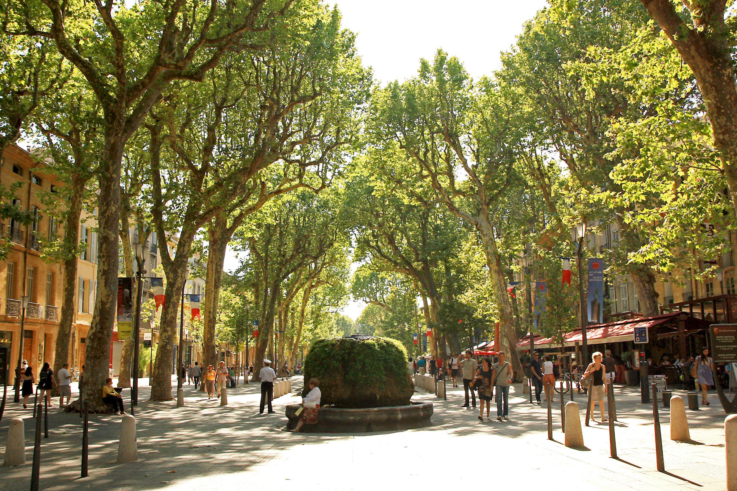 The beautiful city of Aix-en-Provence where this year's salon Vivre Côté Sud takes place.