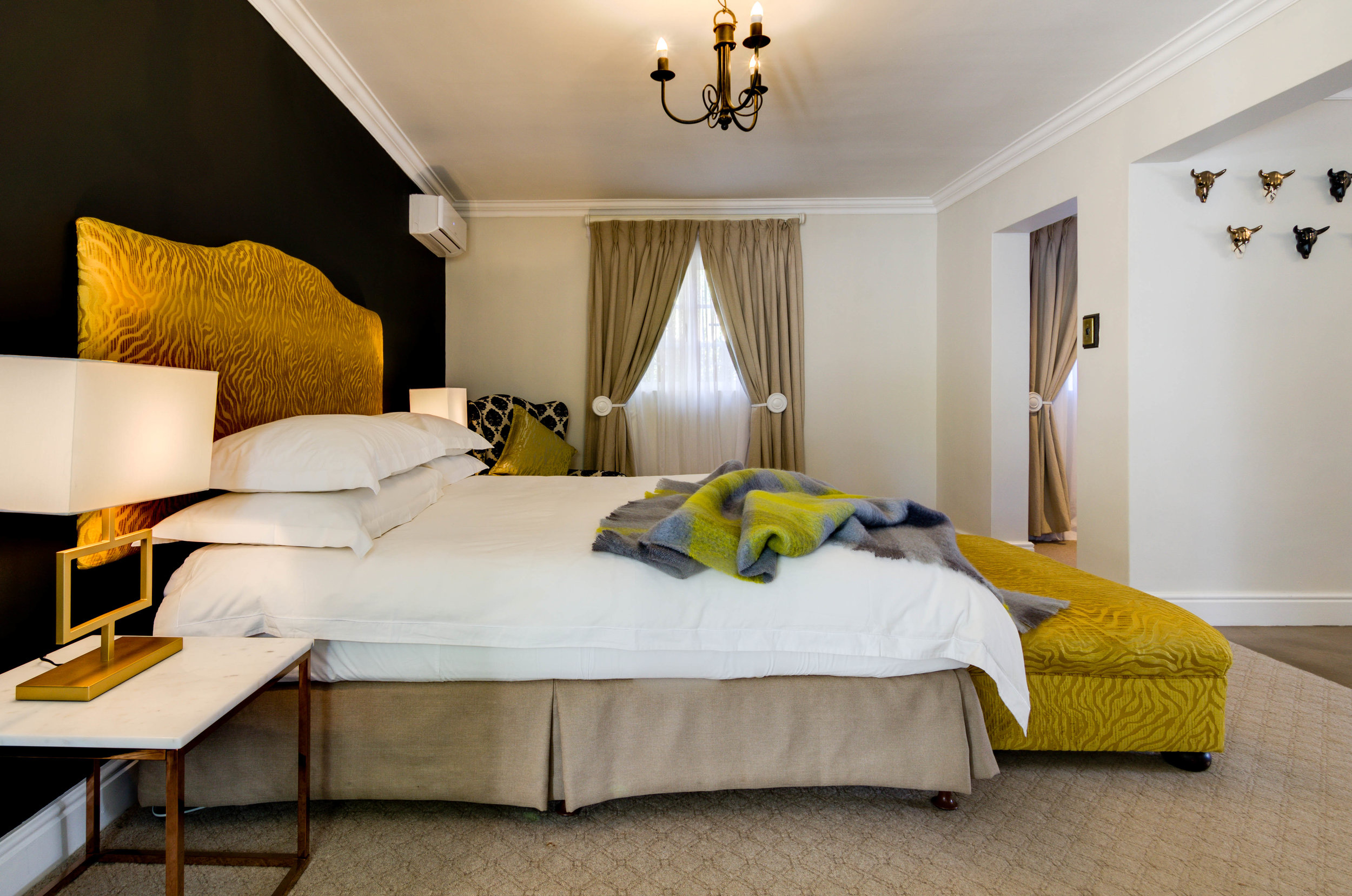 Elegantly appointed rooms at The Post House offer luxury and comfort for an incredible getaway in Greyton.