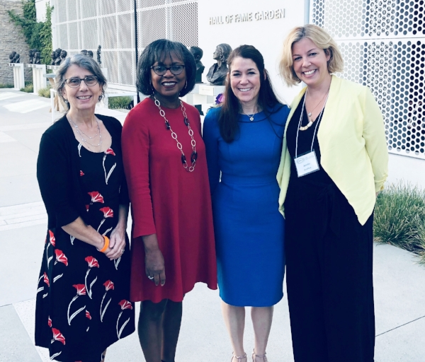 Jane Stapleton, Anita Hill, Sharyn Potter, and Jennifer Scrafford at the Hollywood Commission's IDEAS Summit.