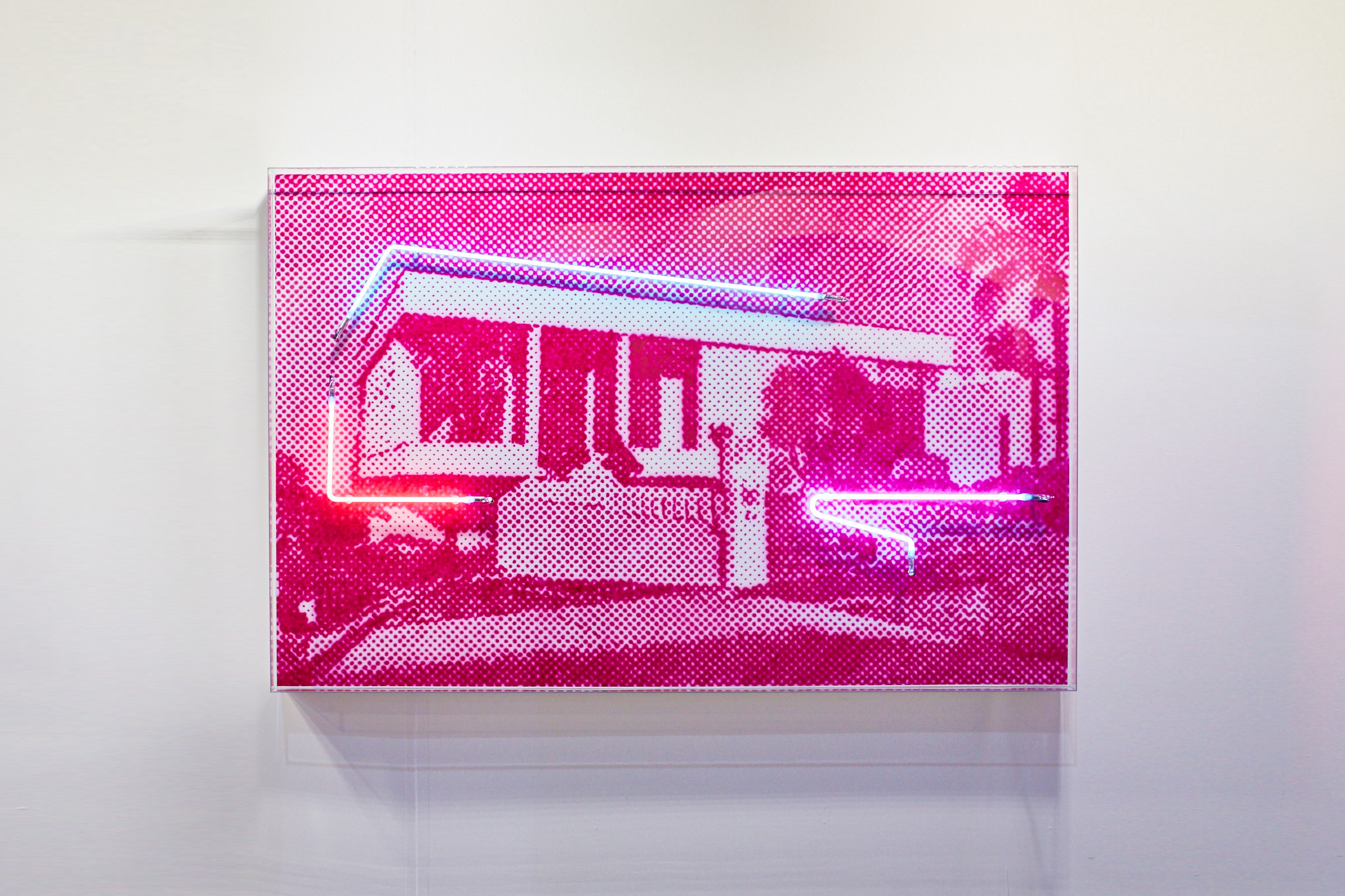Iwanoff house  Airbrush acrylic polymer and neon on dibond, acrylic frame 110x170cm each