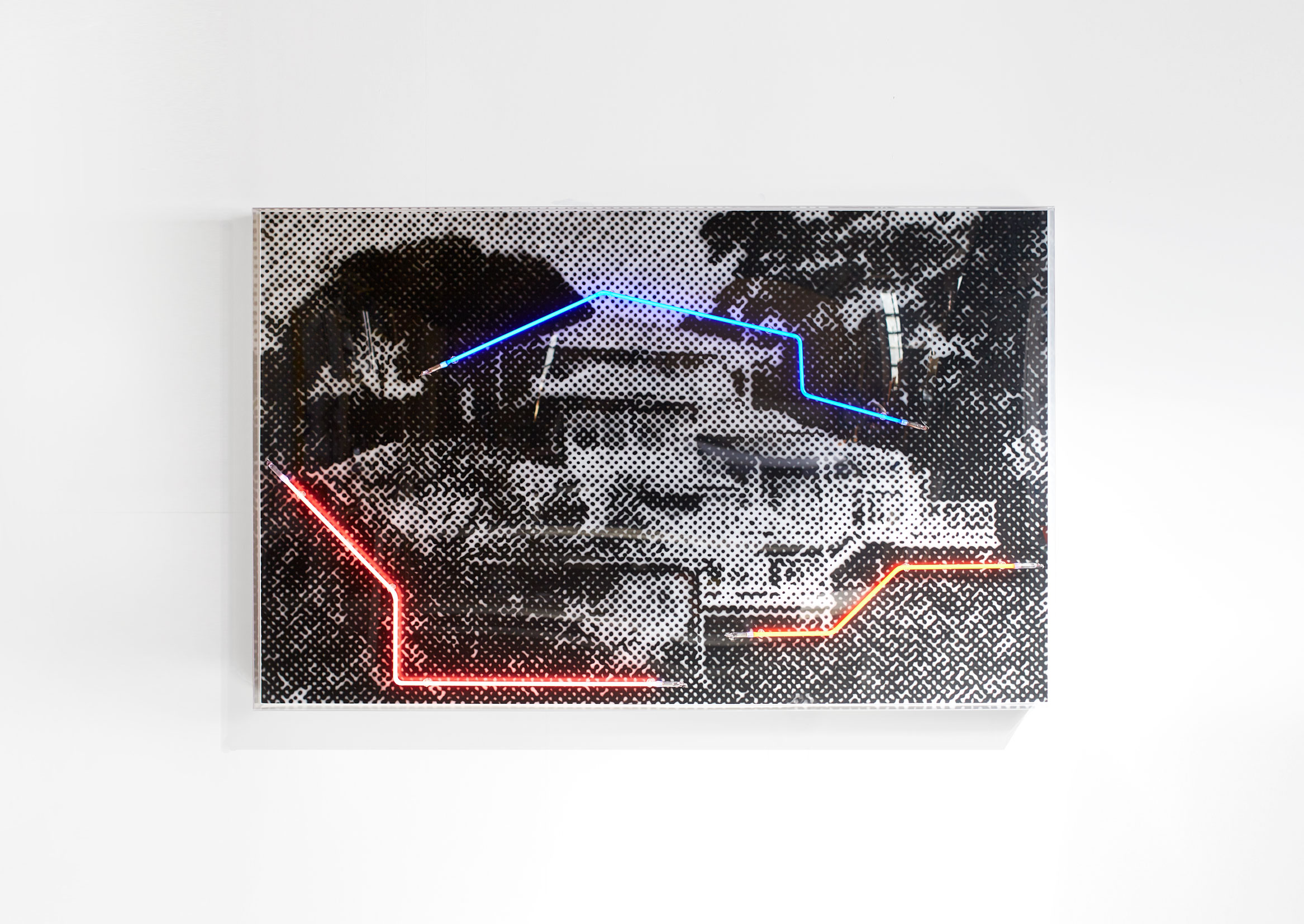 55 Bayview, 2019  Airbrush acrylic polymer and neon on dibond, acrylic frame 125x200cm