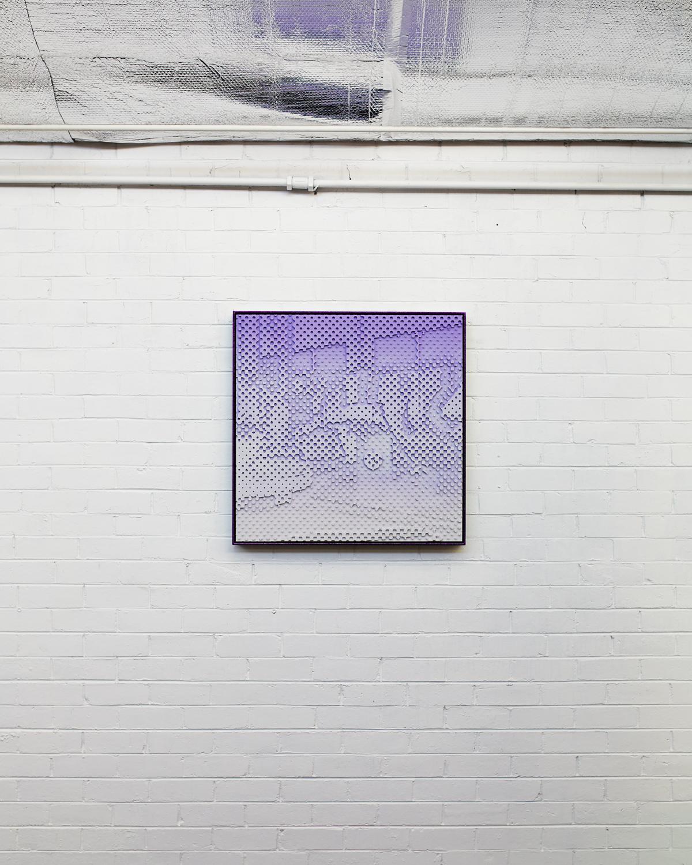 Street Bust  Acrylic on HDP CNC Foam, Glitter Powder Coat Aluminium Frame 80x80cm