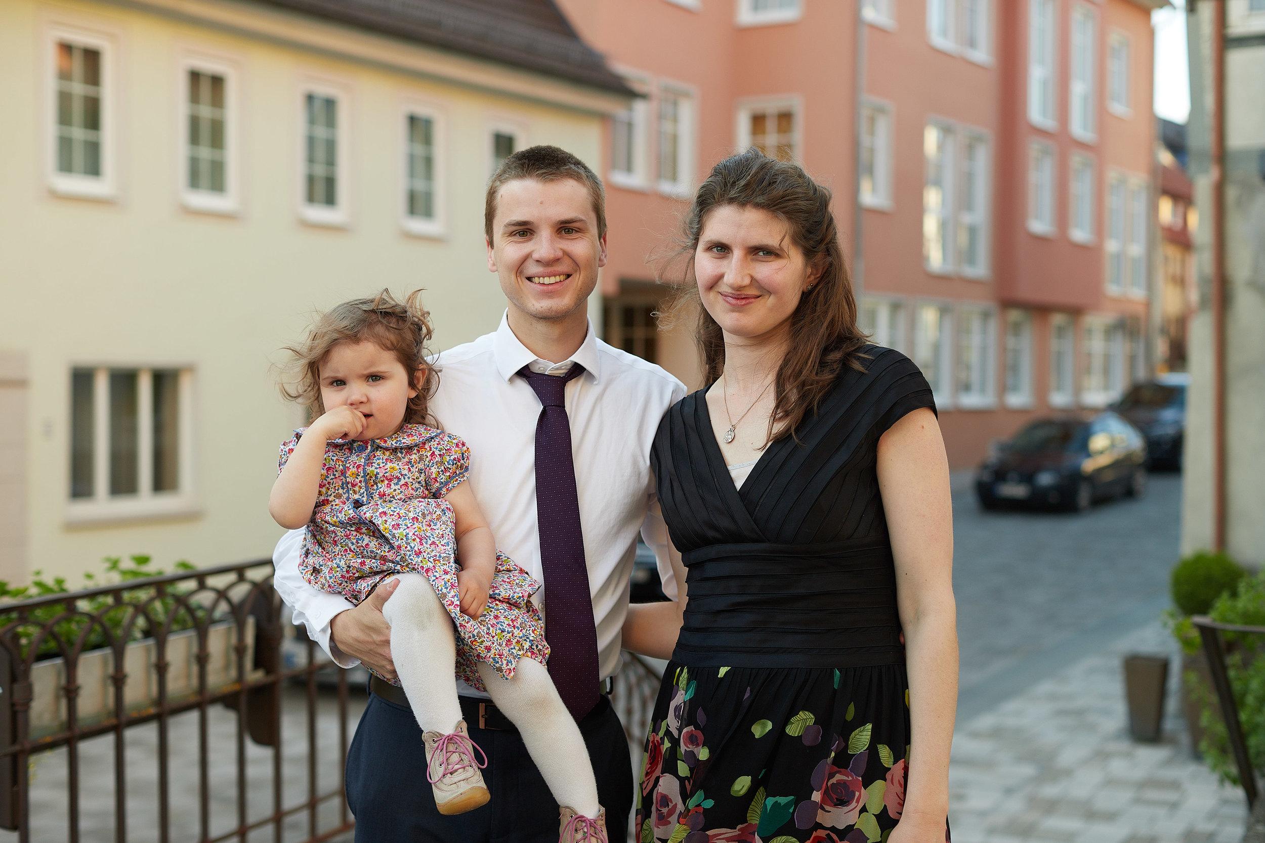 Meine Frau Alicia,unsere Tochter Katharina und ich.
