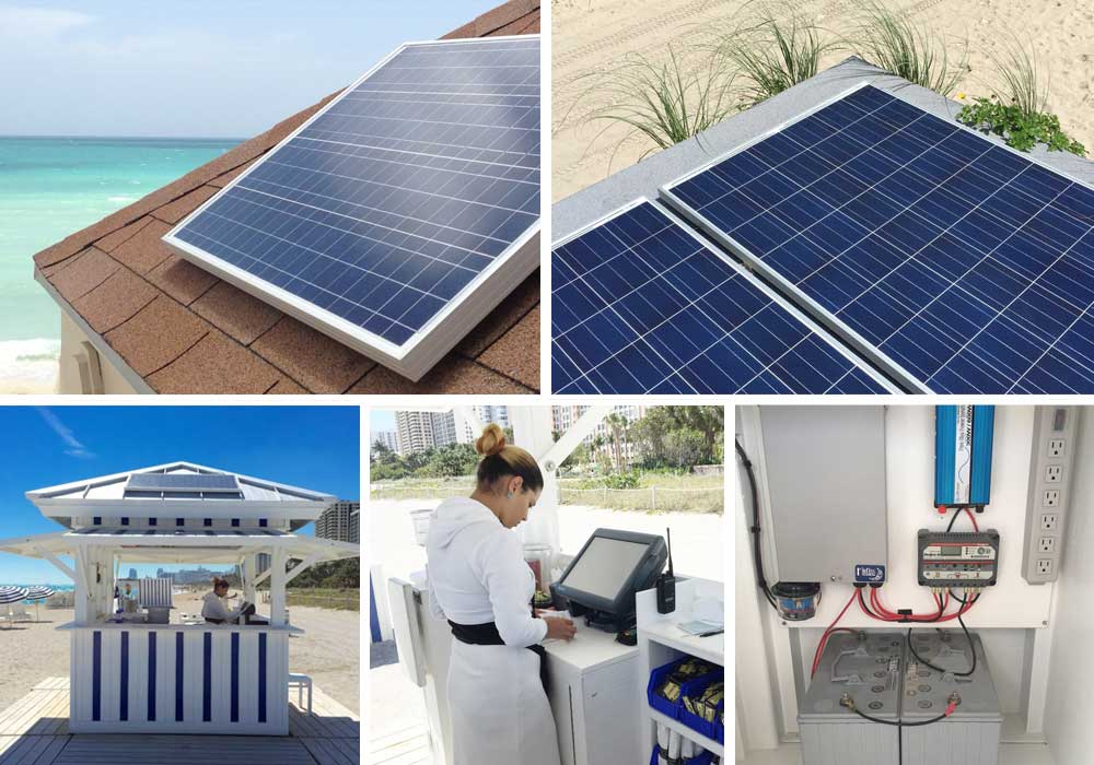 Solar - We design, build and install custom solar installations. Our solar installations are all related to improving guest services and increasing revenues! Our installations include the ability to power; POS computers, WiFi access points, cell phone and PDA charging stations, LED lighting, refrigeration and more!